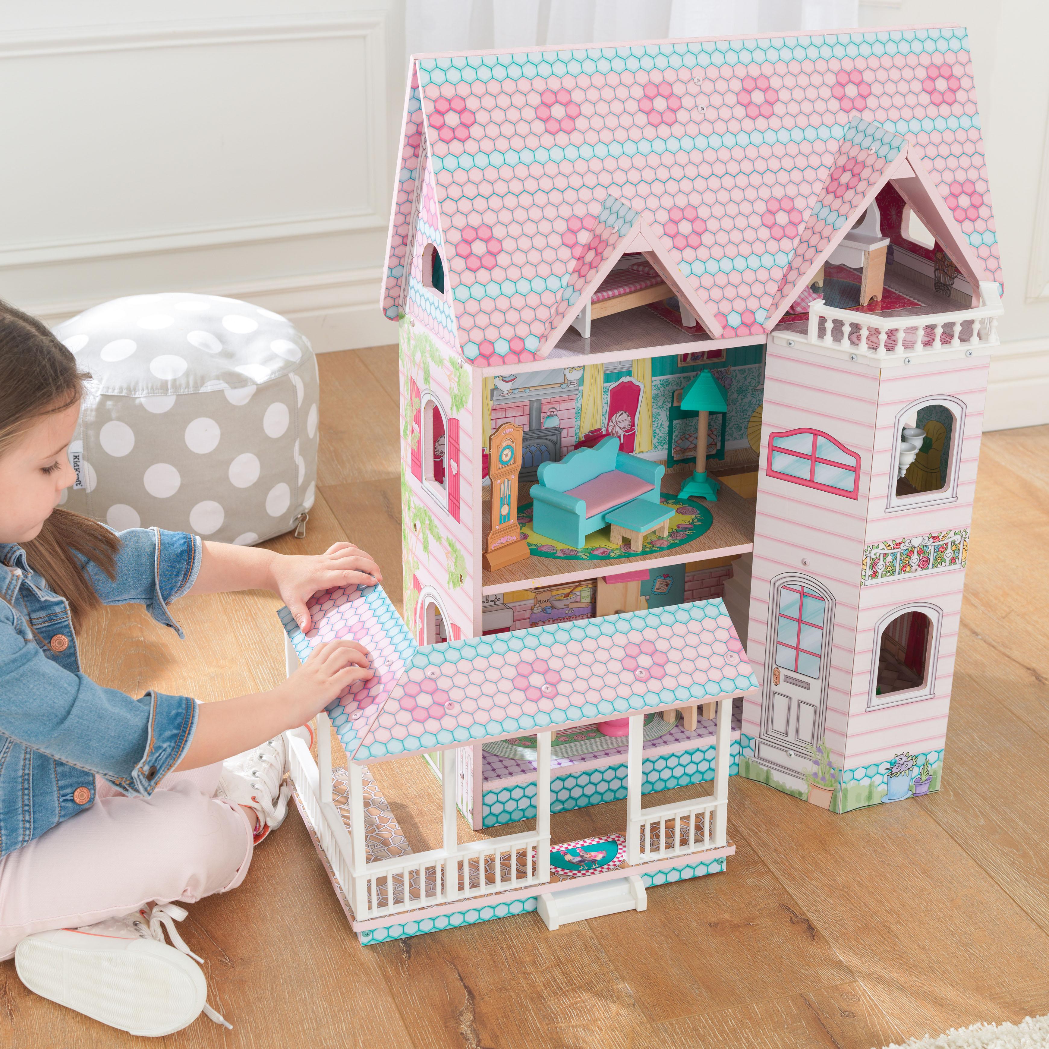 Детска дървена къща за кукли - Анабел от Kidkraft(8)-bellamie