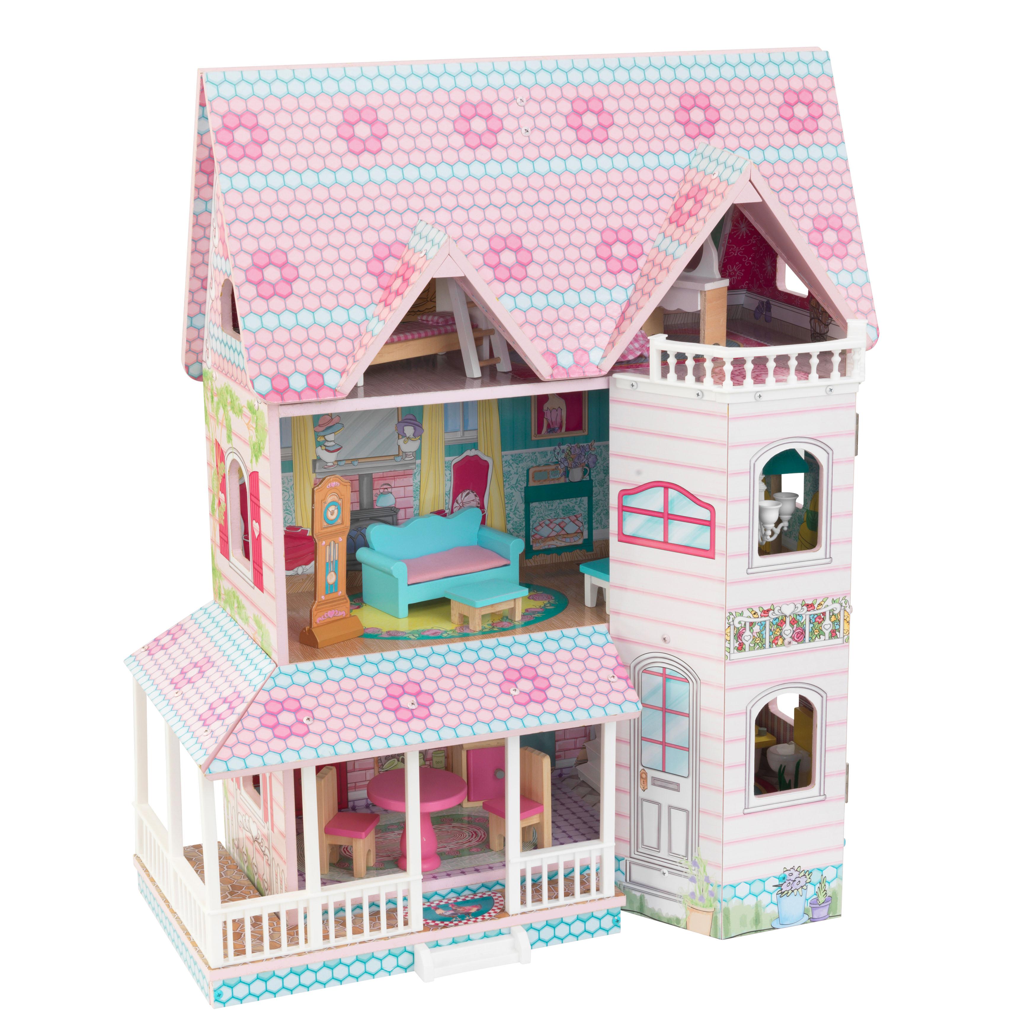 Детска дървена къща за кукли - Анабел от Kidkraft(9)-bellamie