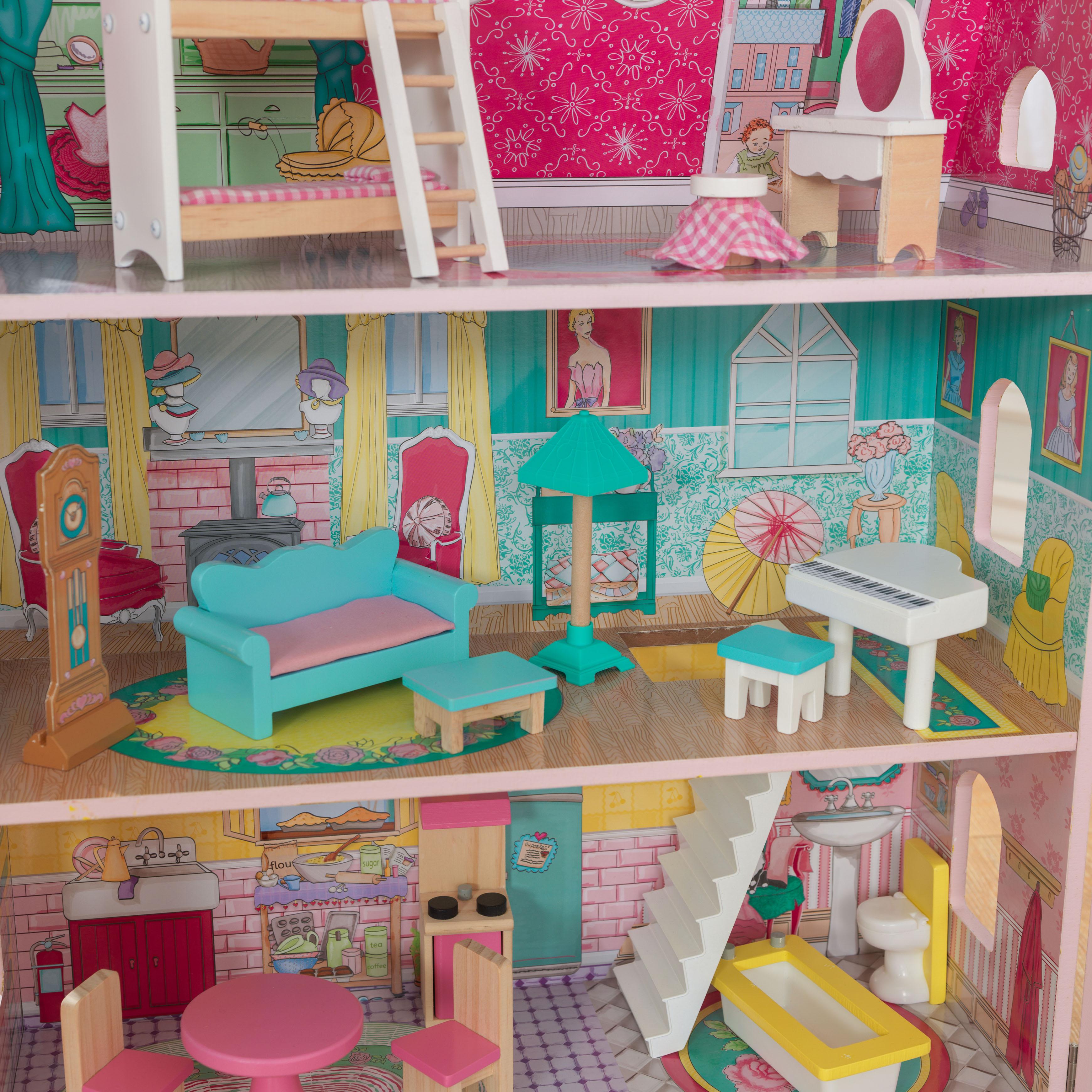 Детска дървена къща за кукли - Анабел от Kidkraft(10)-bellamie