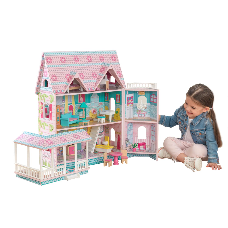 Детска дървена къща за кукли - Анабел от Kidkraft(11)-bellamie