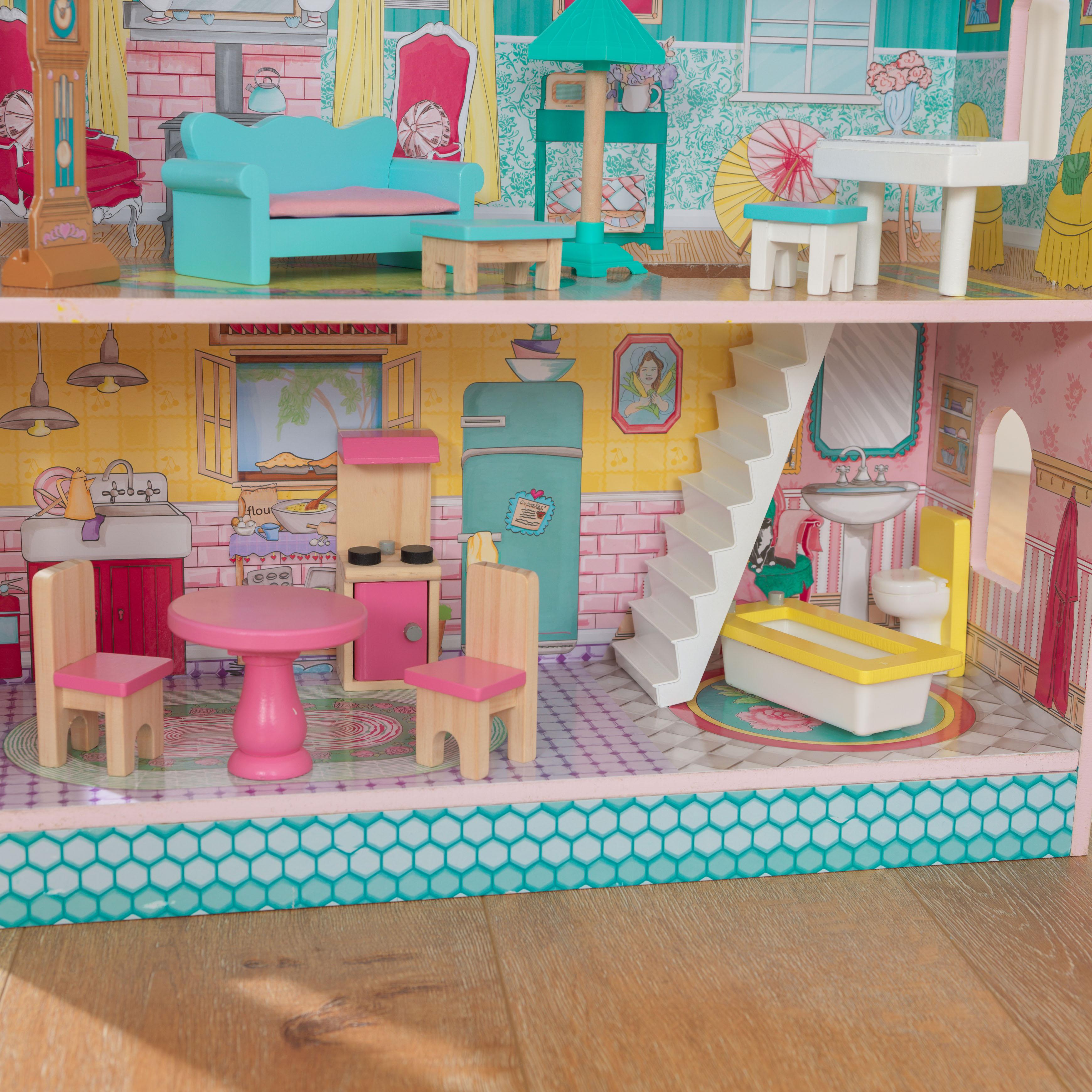 Детска дървена къща за кукли - Анабел от Kidkraft(12)-bellamie