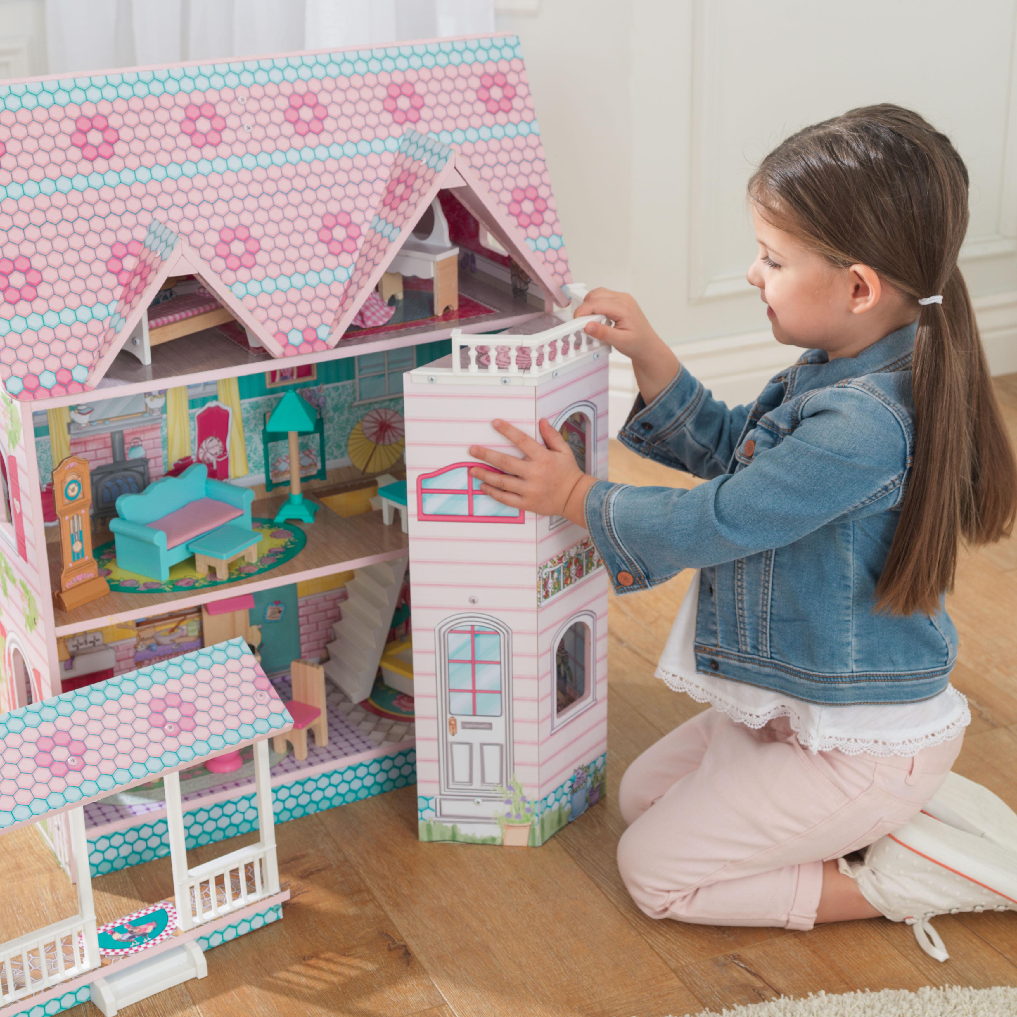 Детска дървена къща за кукли - Анабел от Kidkraft(2)-bellamie