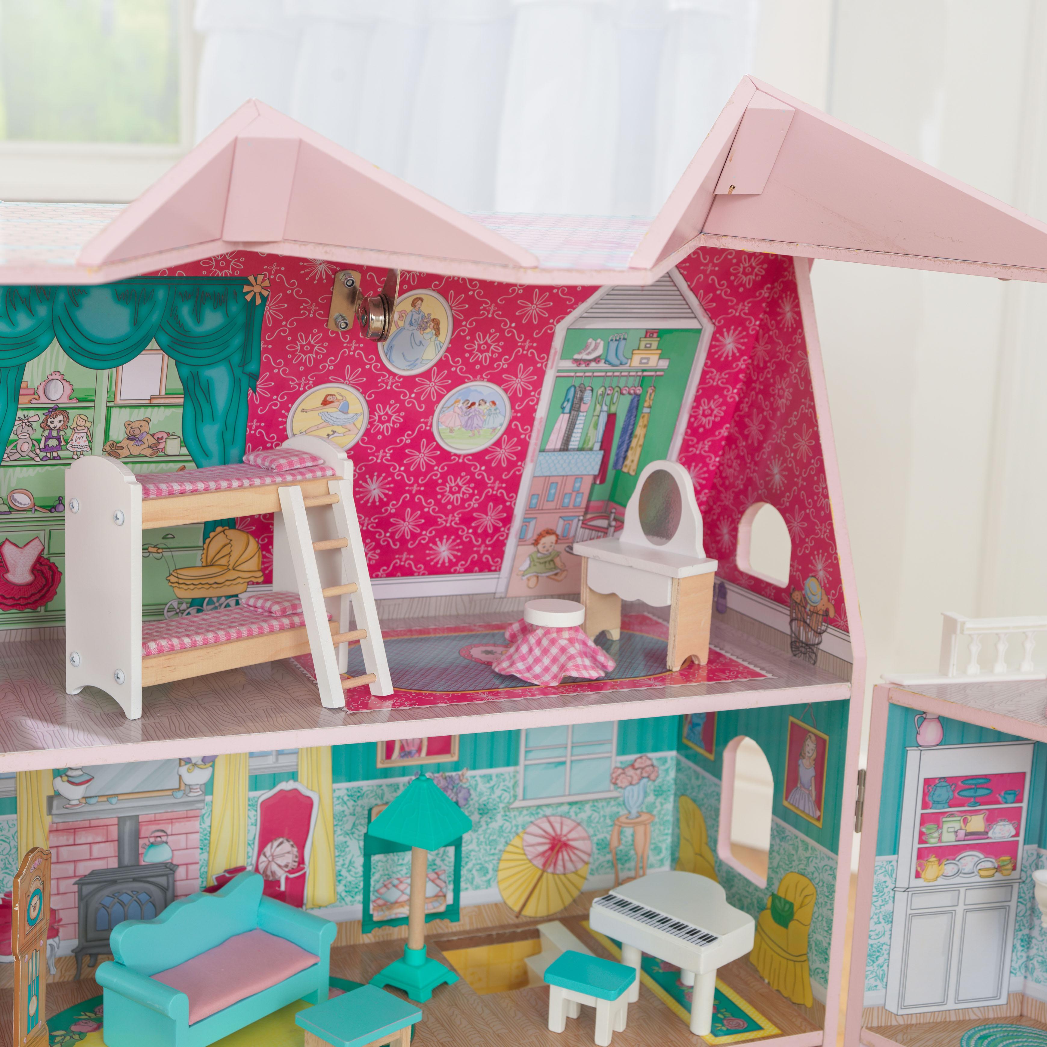 Детска дървена къща за кукли - Анабел от Kidkraft(3)-bellamie