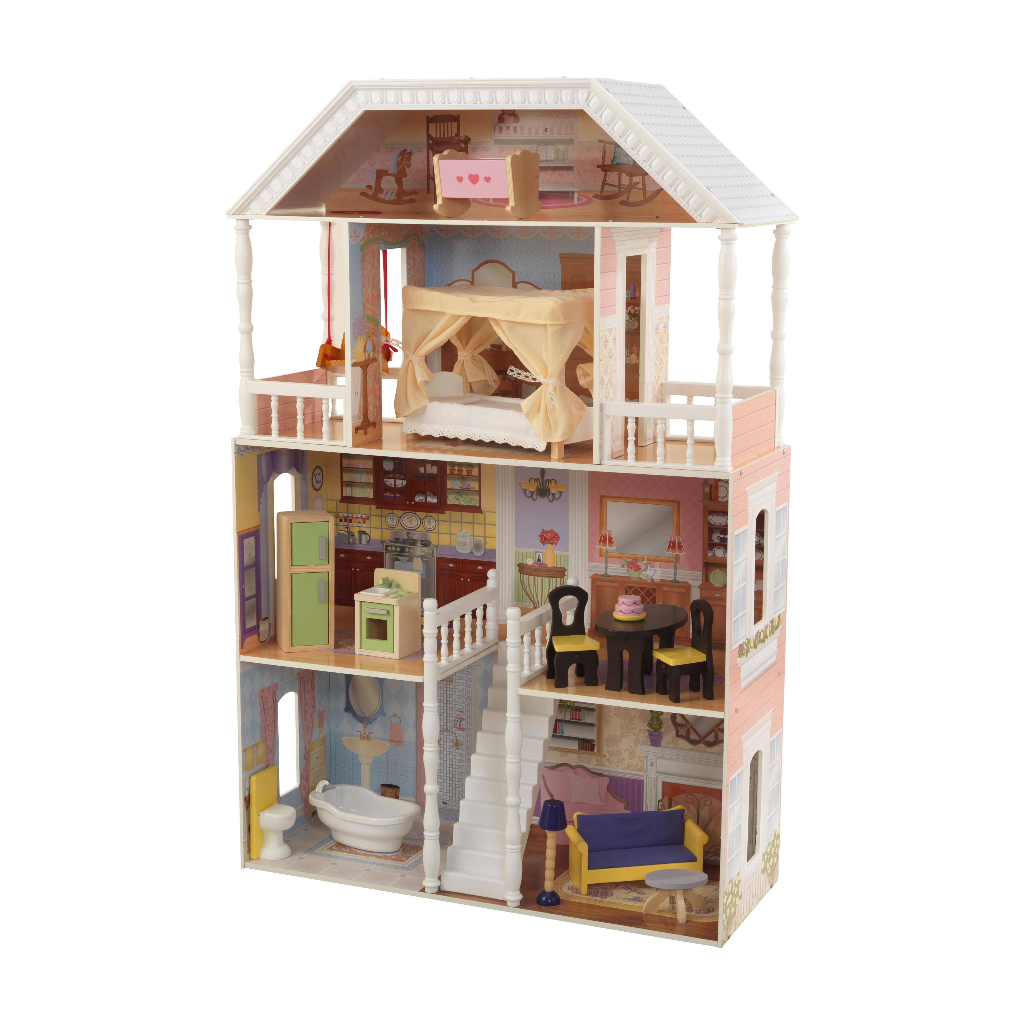Детска дървена къща за кукли Савана от Kidkraft(6)-bellamie