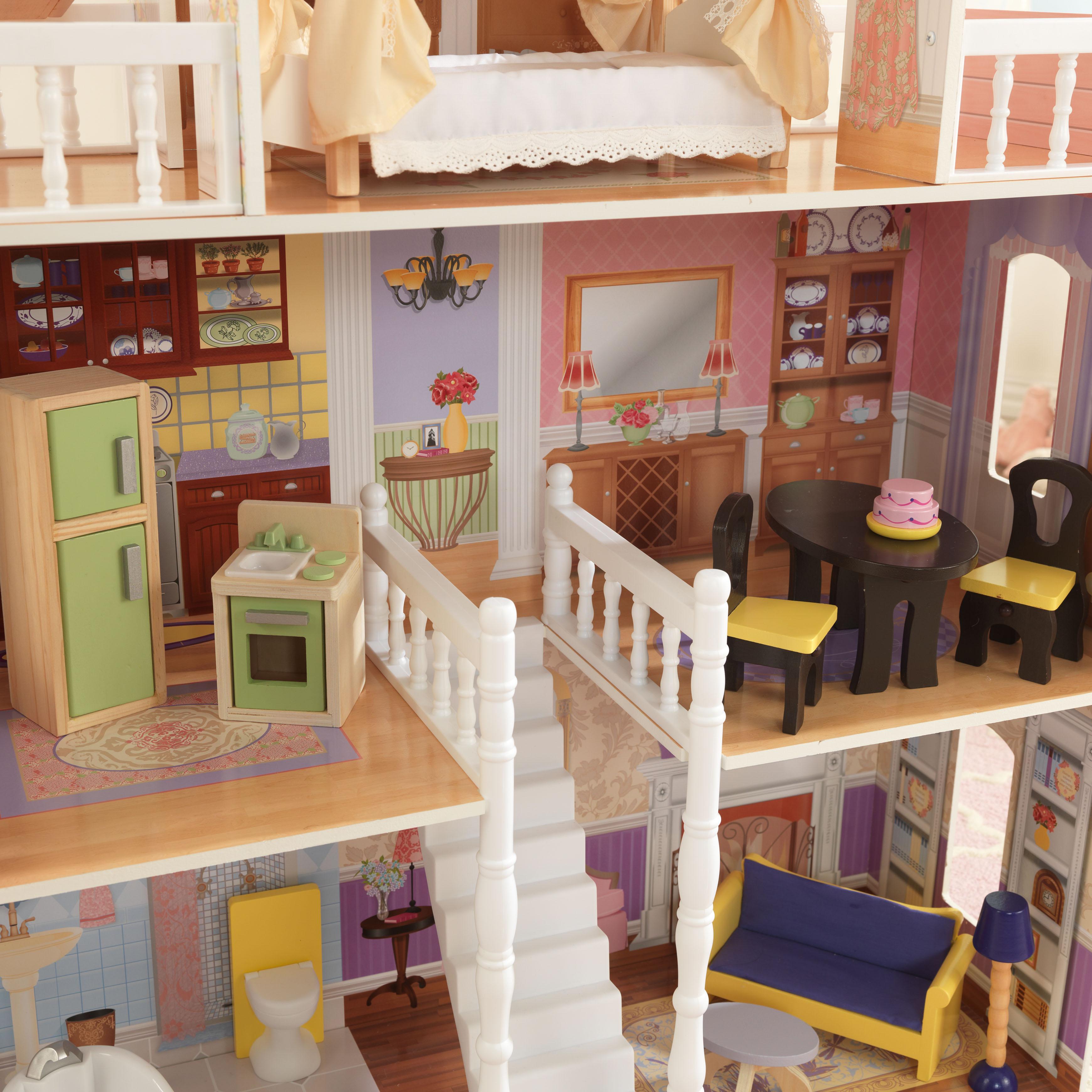 Детска дървена къща за кукли Савана от Kidkraft(5)-beellamie