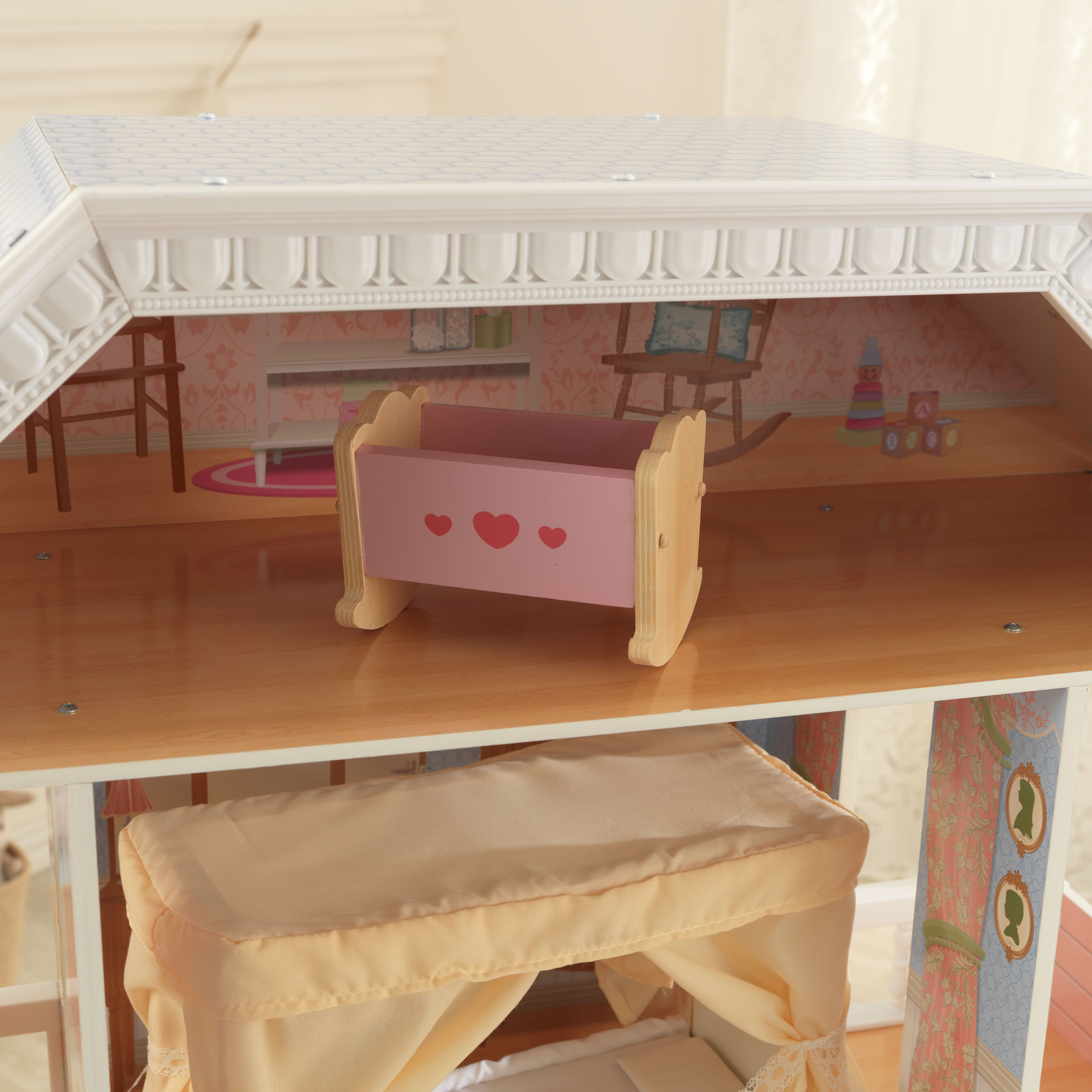 Детска дървена къща за кукли Савана от Kidkraft(4)-bellamie