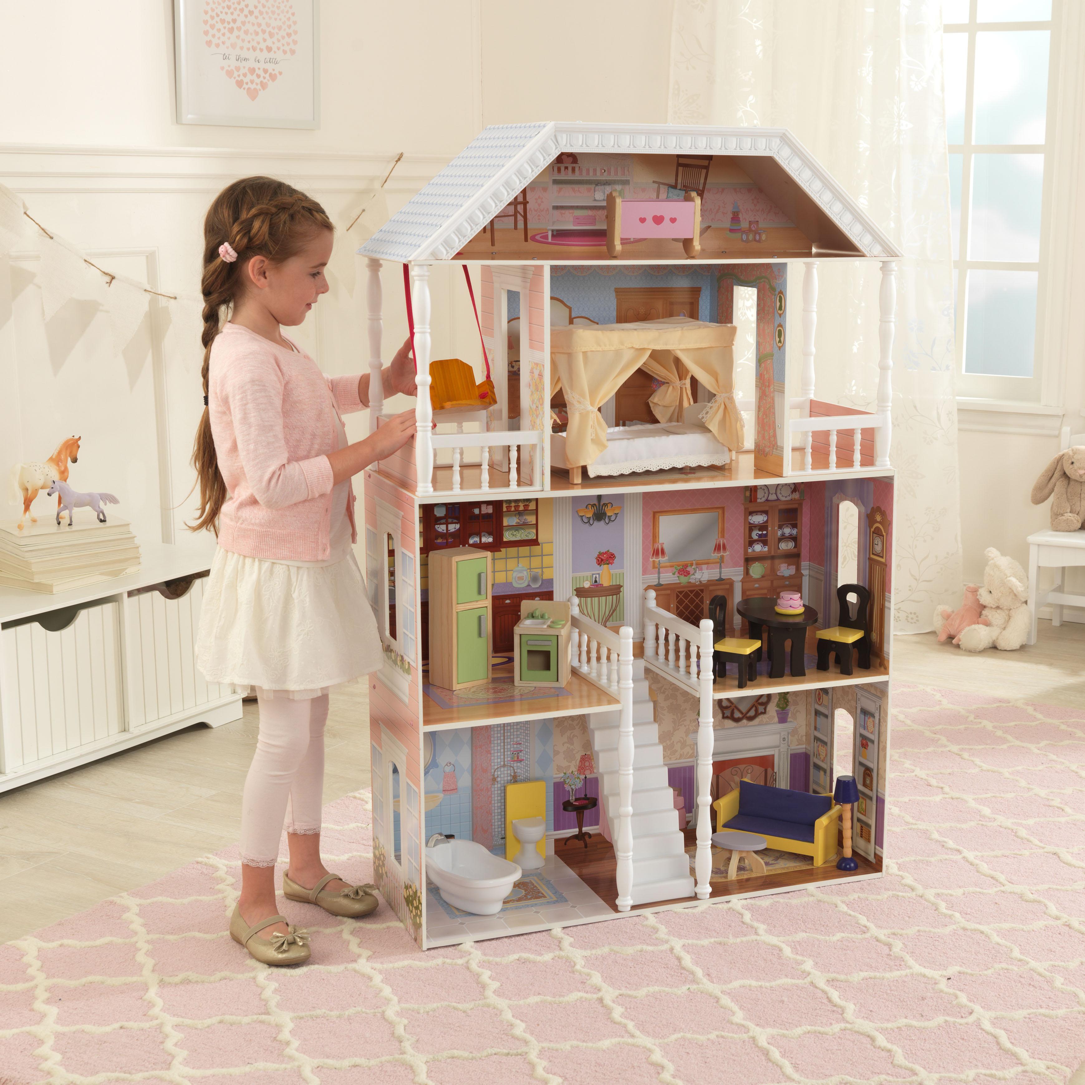 Детска дървена къща за кукли Савана от Kidkraft(2)-bellamie