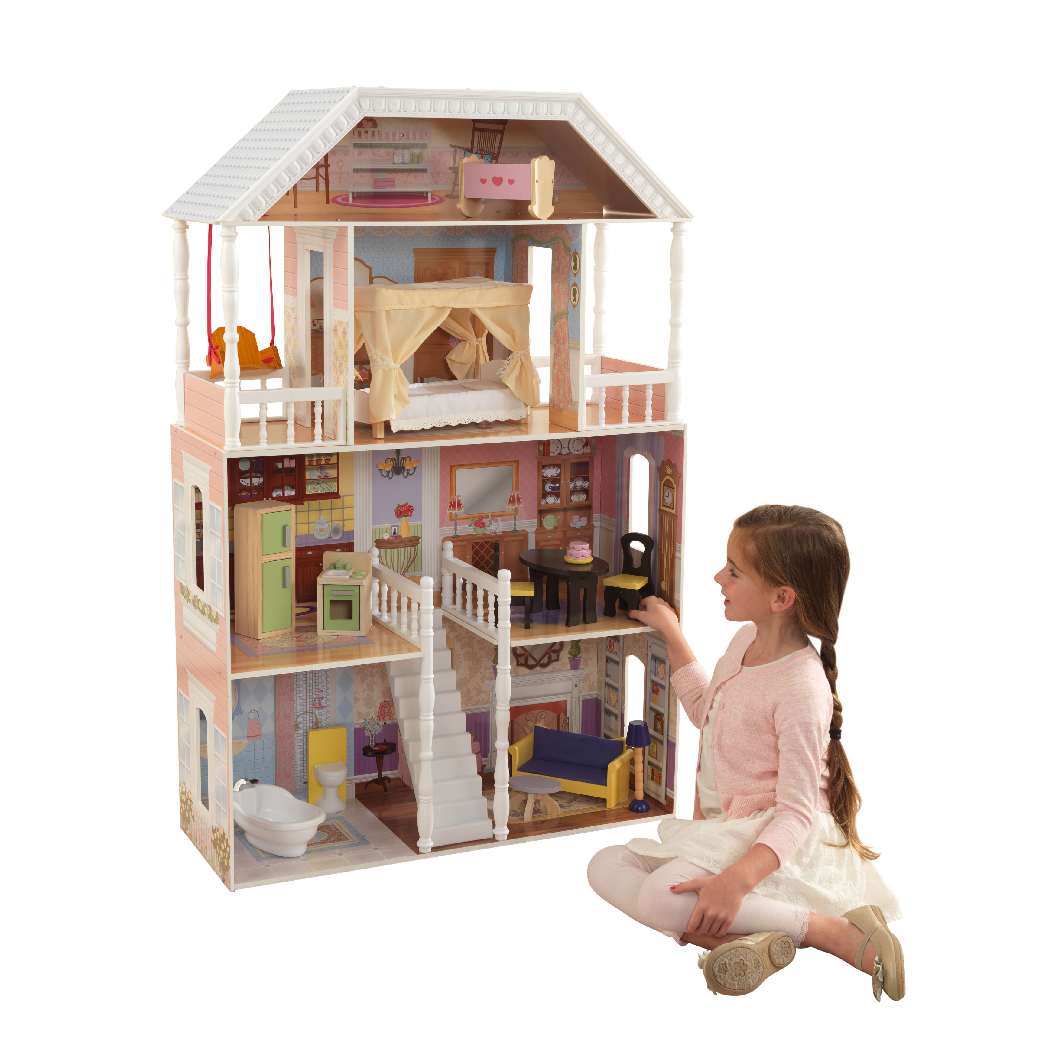 Детска дървена къща за кукли Савана от Kidkraft(1)-bellamie