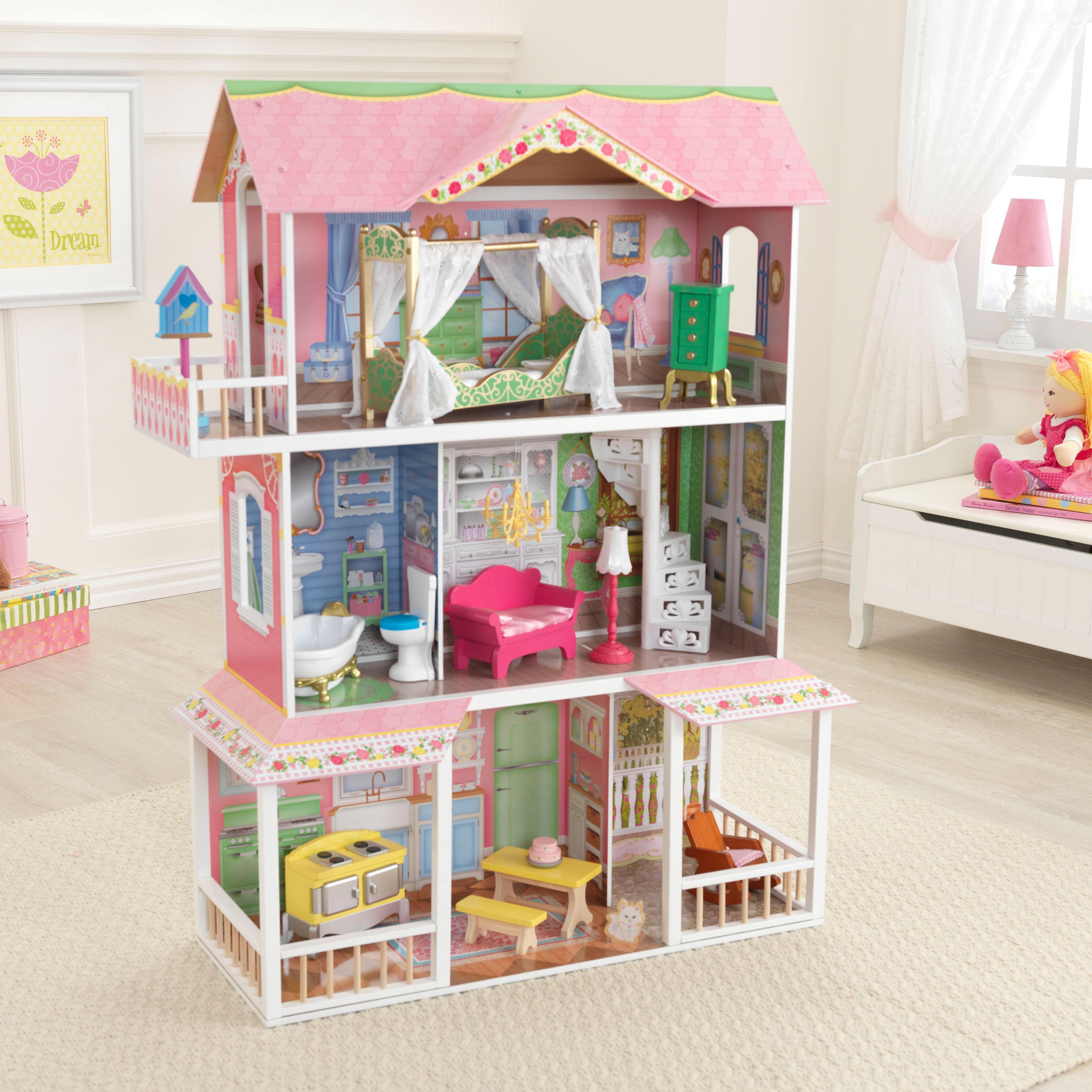 Дървена къща за кукли - Сладката Савана от KidKraft(8)-bellamie