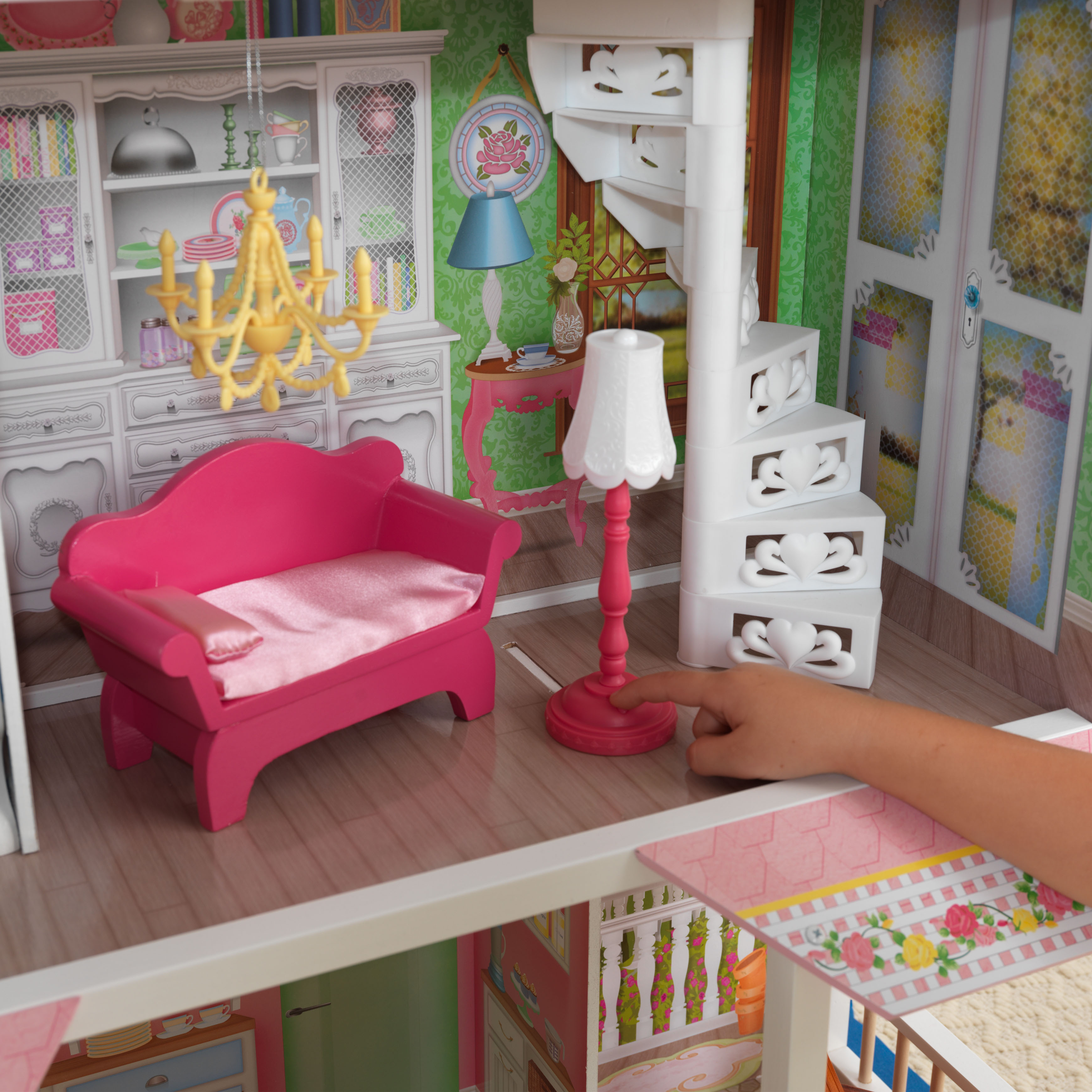 Дървена къща за кукли - Сладката Савана от KidKraft(7)-bellamie