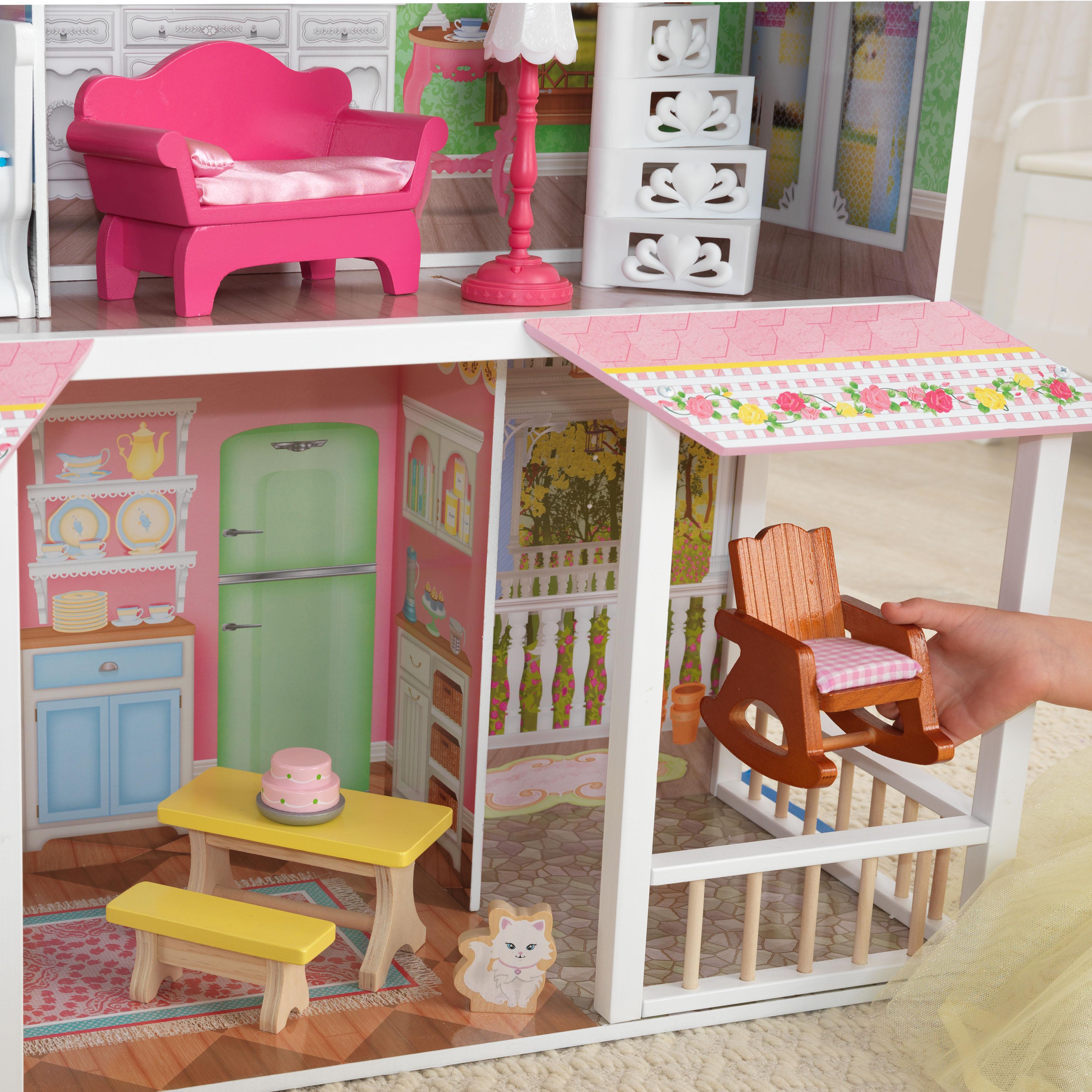 Дървена къща за кукли - Сладката Савана от KidKraft(5)-bellamie