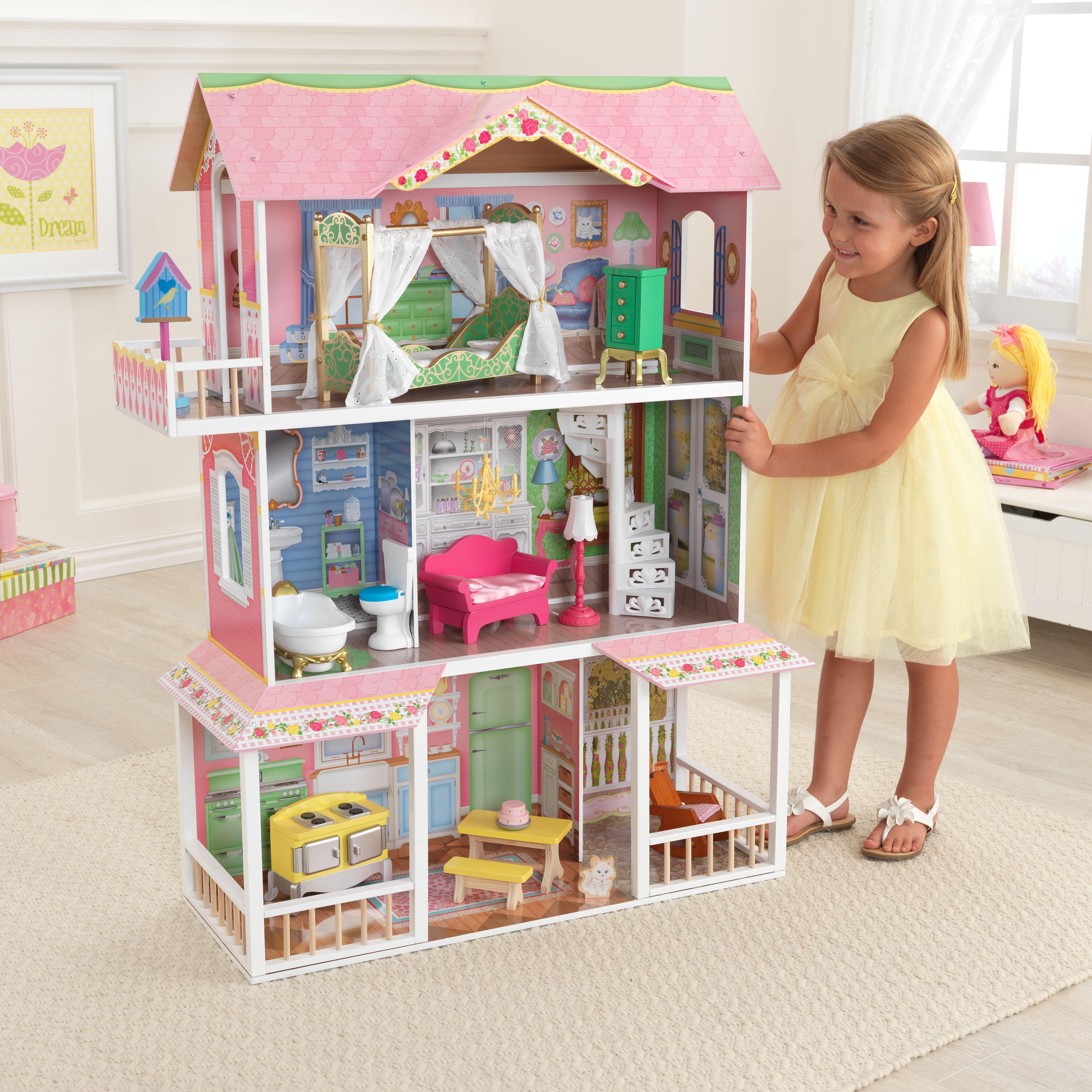Дървена къща за кукли - Сладката Савана от KidKraft(4)-bellamie