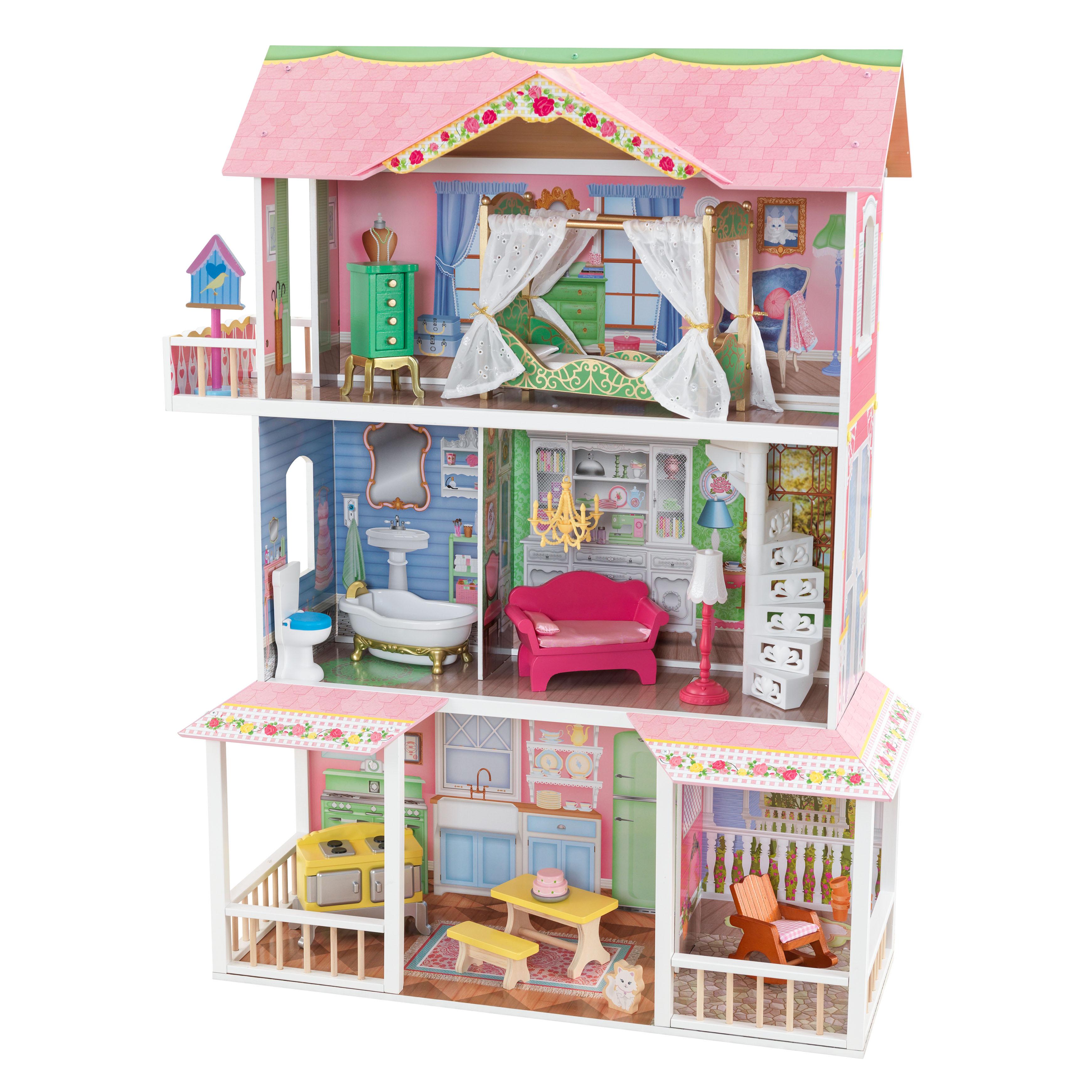 Дървена къща за кукли - Сладката Савана от KidKraft(3)-bellamie