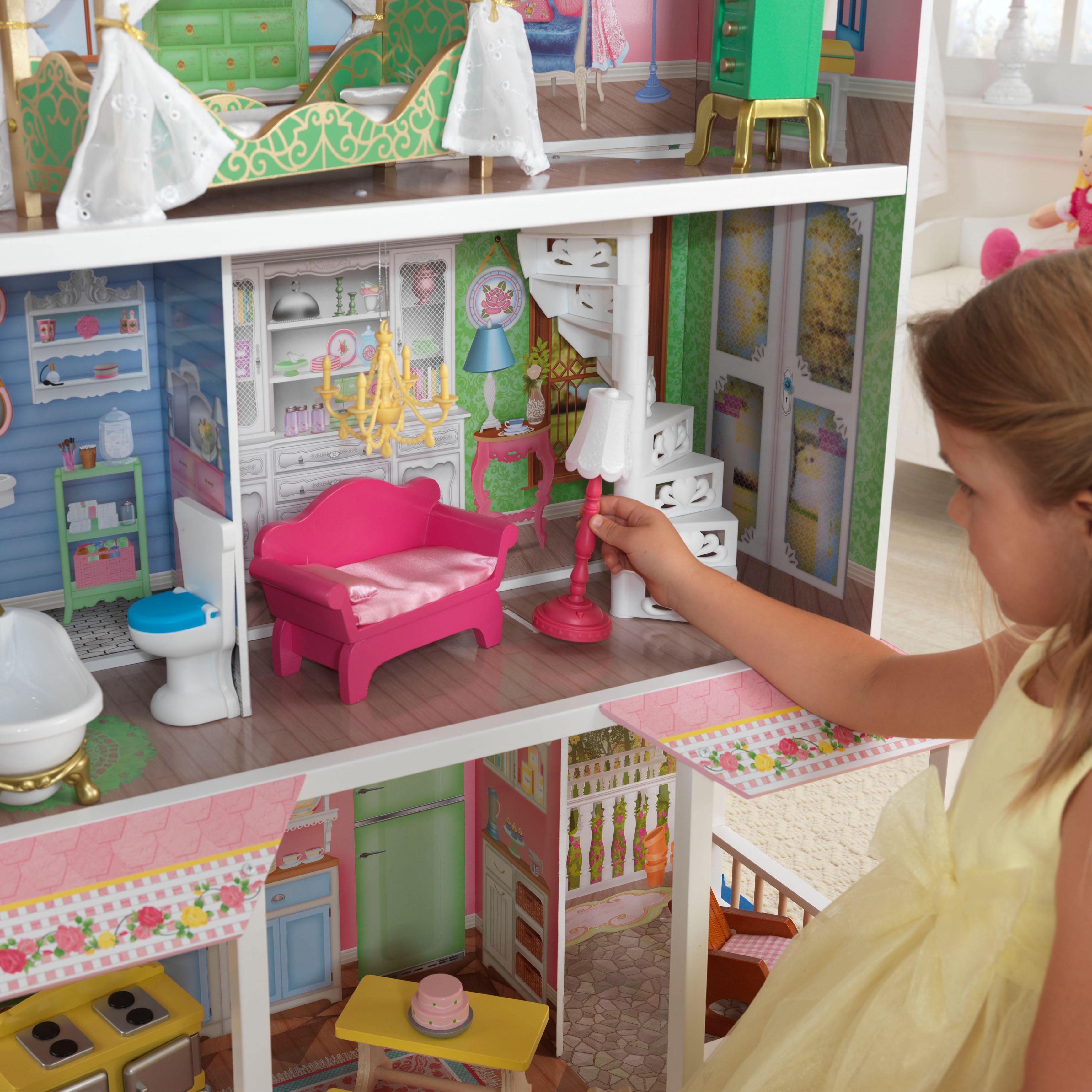 Дървена къща за кукли - Сладката Савана от KidKraft(2)-bellamie
