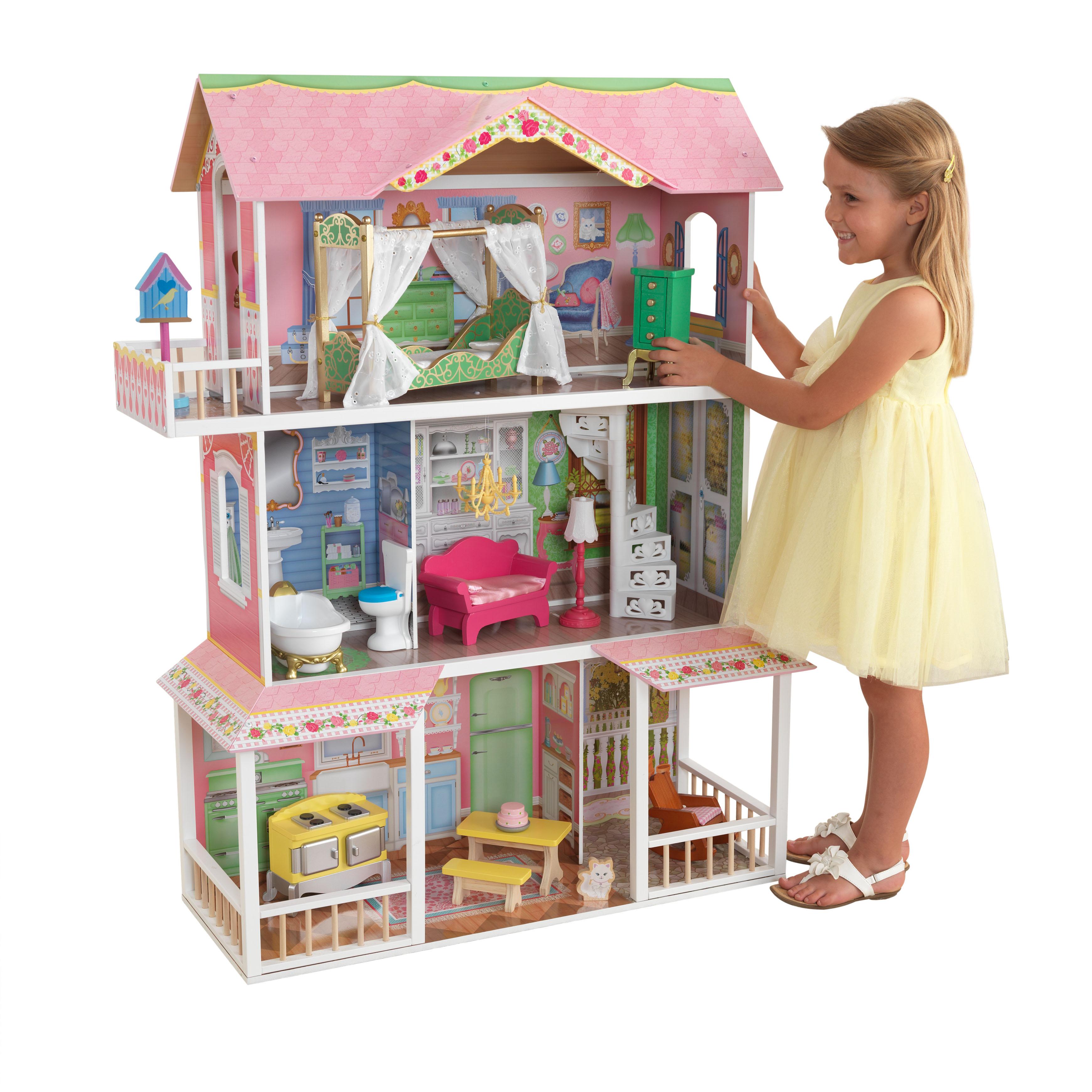 Дървена къща за кукли - Сладката Савана от KidKraft(1)-bellamie