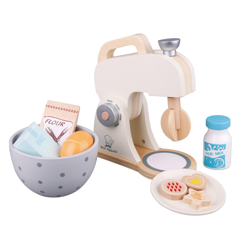 Дървен миксер в пастелни цветове от New Classic Toys - детска дървена играчка(1)-bellamie