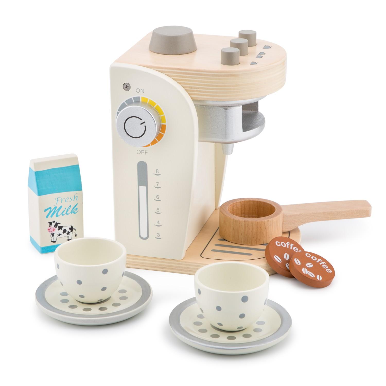 Детска кафе машина - дървена играчка от New Classic Toys(1)-bellamie