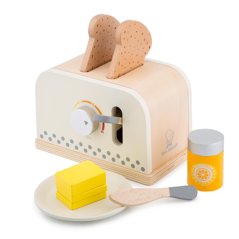 Детски дървен тостер - детска дървена кухня и аксесоари-дървена играчка(2)-bellamie