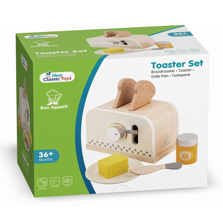 Детски дървен тостер - детска дървена кухня и аксесоари-дървена играчка(5)-bellamie