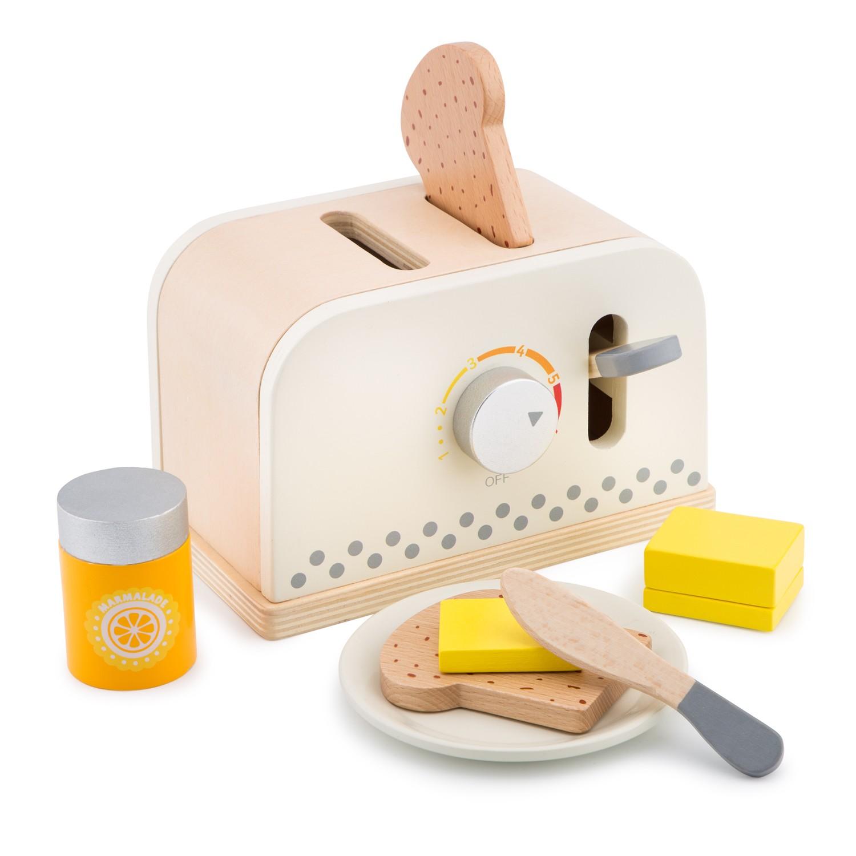 Детски дървен тостер - детска дървена кухня и аксесоари-дървена играчка(1)-bellamie