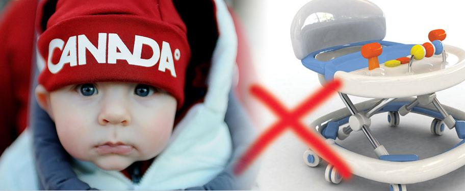 """Забрана на детски проходилки за сядане тип """"Паяк"""" в Канада"""