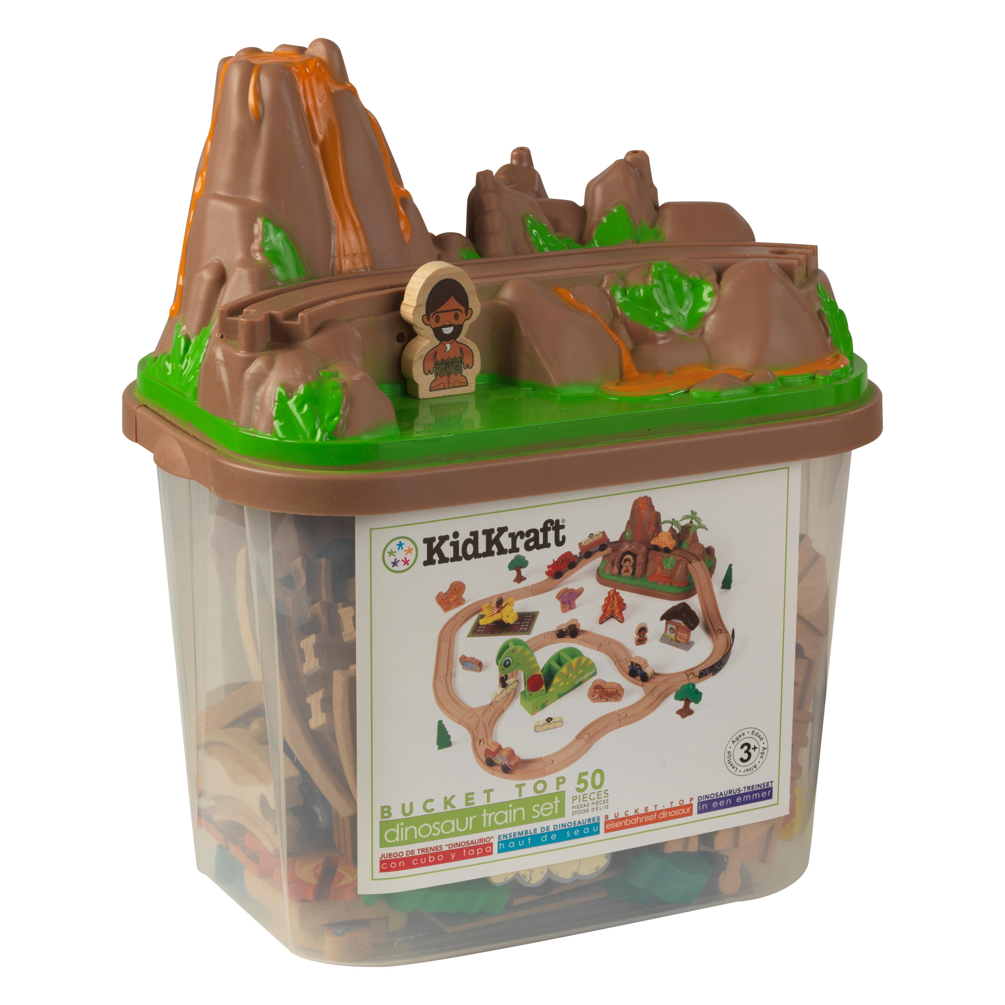 Детски дървен влак - Света на динозаврите - дървена играчка(1)-bellamie