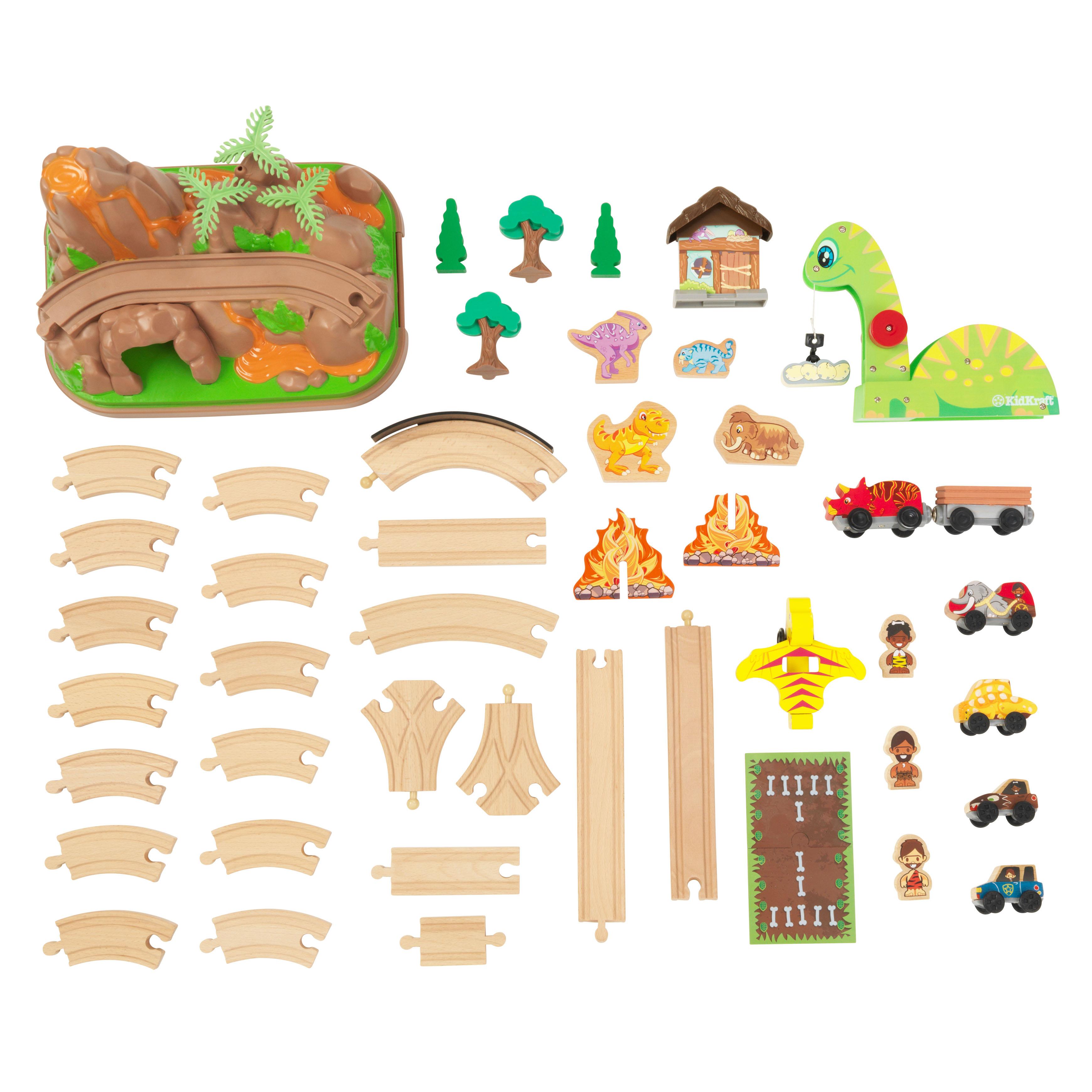 Детски дървен влак - Света на динозаврите - дървена играчка(10)-bellamie