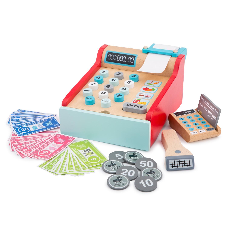 Детски касов апарат от New Classic Toys -дървена играчка - Bellamie