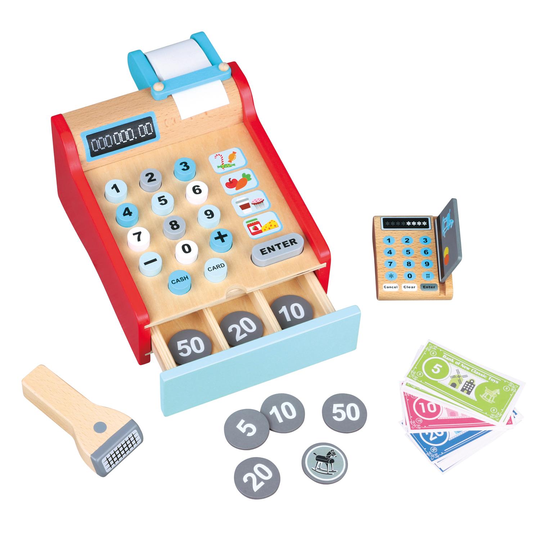 Детски касов апарат от New Classic Toys -дървена играчка(2)-bellamie