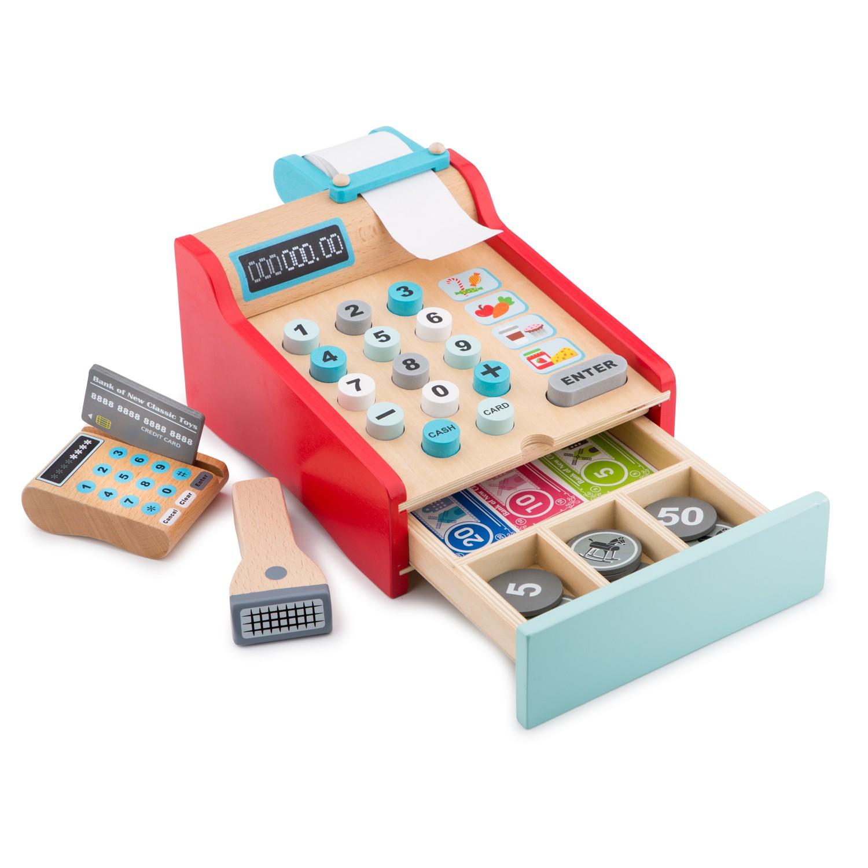 Детски касов апарат от New Classic Toys -дървена играчка(1)-bellamie