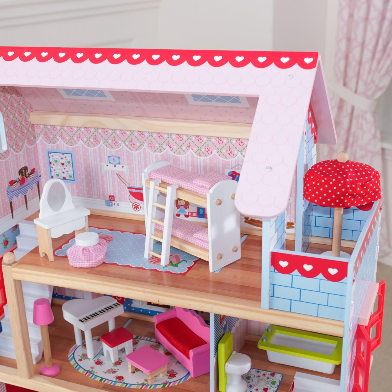 Детска дървена къща за кукли - Челси от Kidkraft(2)-bellamie