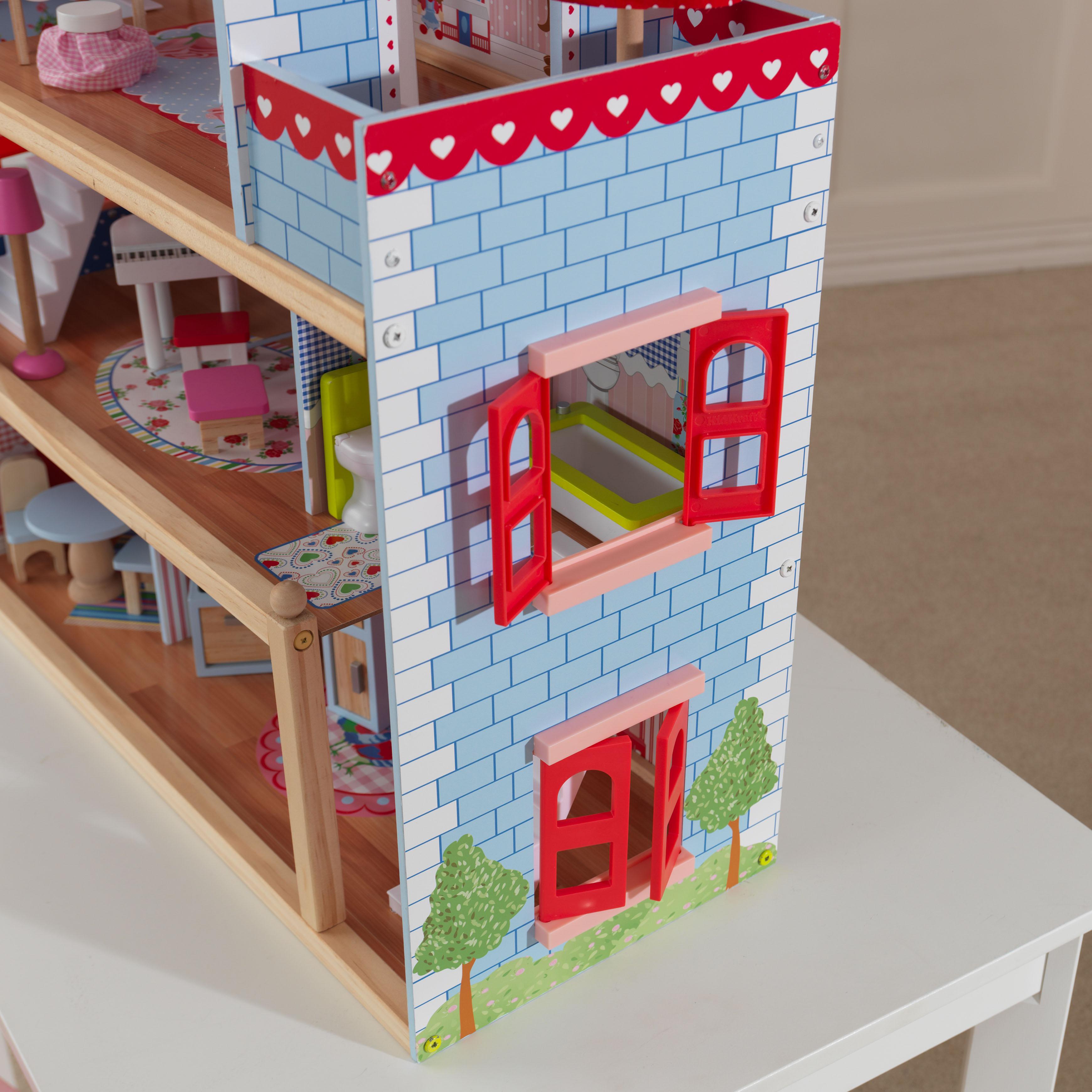 Детска дървена къща за кукли - Челси от Kidkraft(6)-bellamie