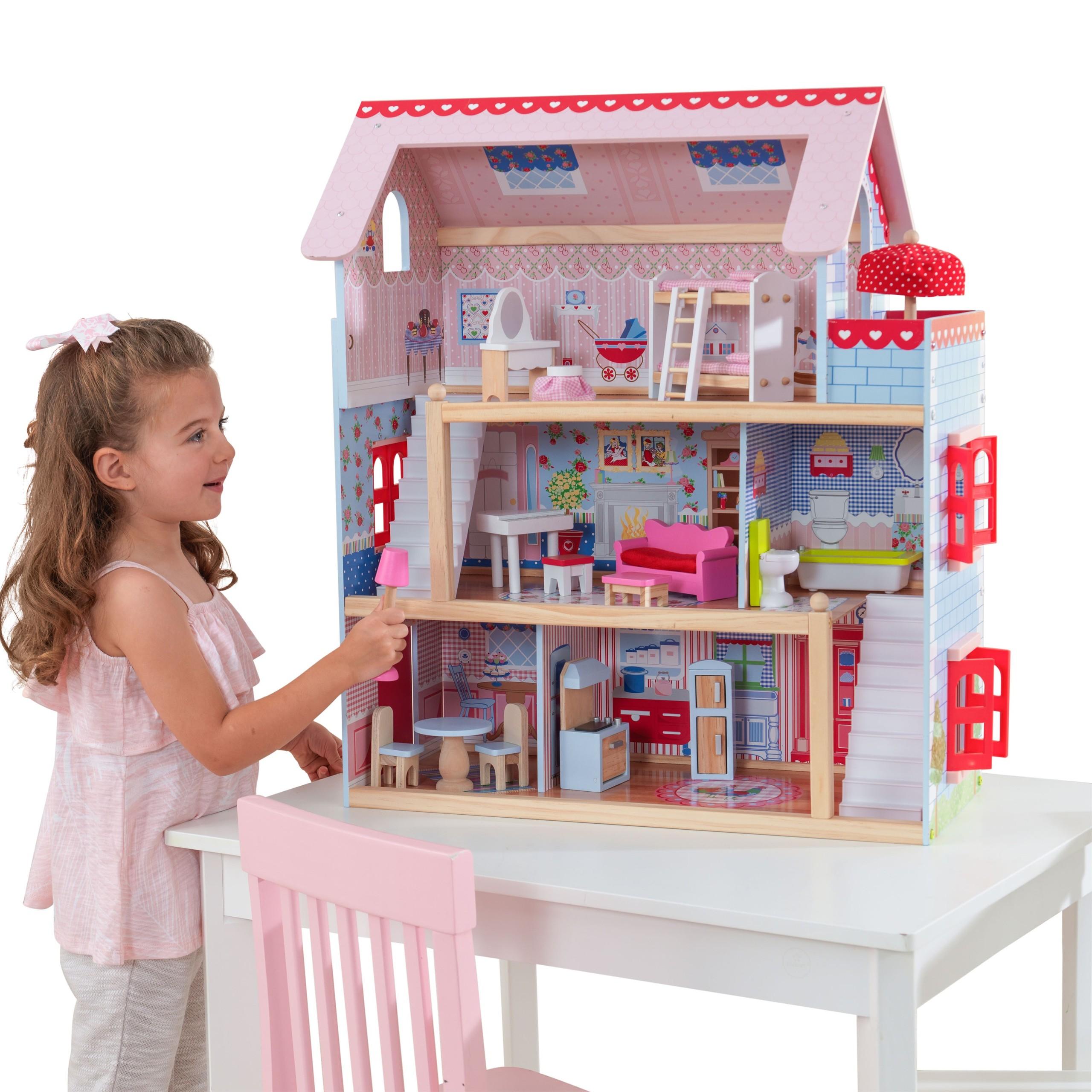 Детска дървена къща за кукли - Челси от Kidkraft(7)-bellamie