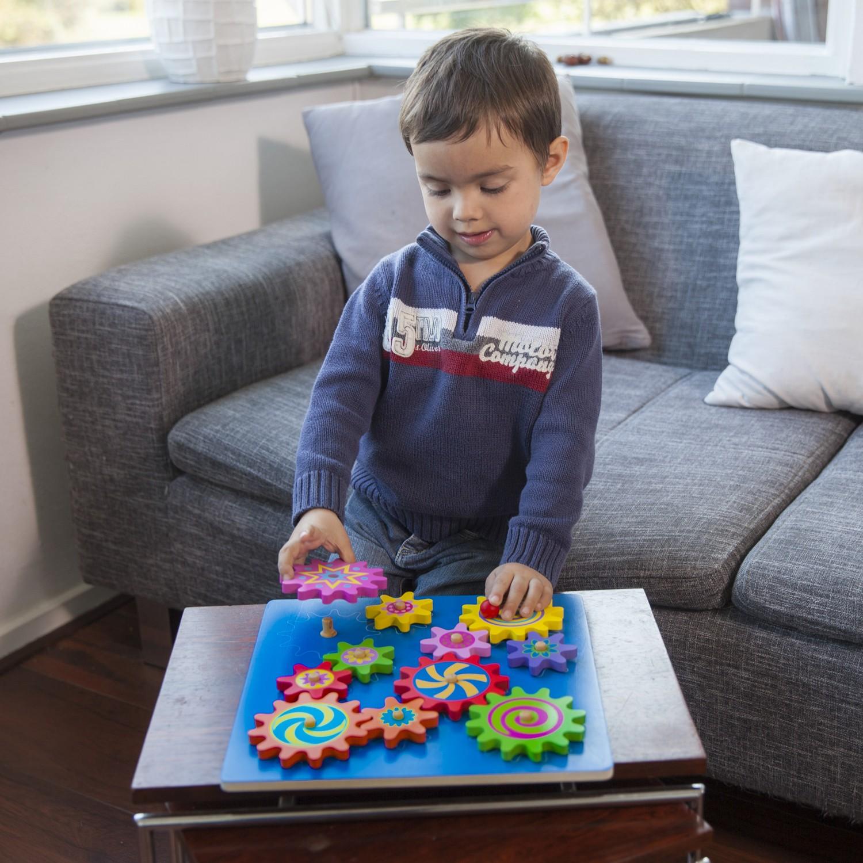 Дървена играчка Зъбчати колела-образователни играчки от New classic toys(2)-bellamie