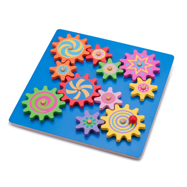 Дървена играчка Зъбчати колела-образователни играчки от New classic toys(1)-bellamie