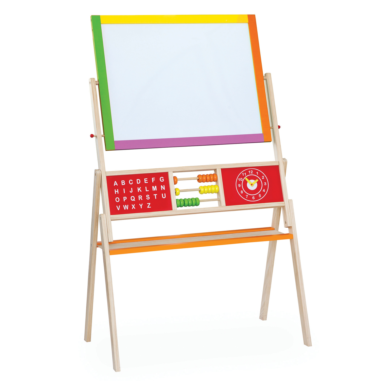 Дървена магнитна дъска с две лица - образователни играчки от Viga toys(1)-bellamie