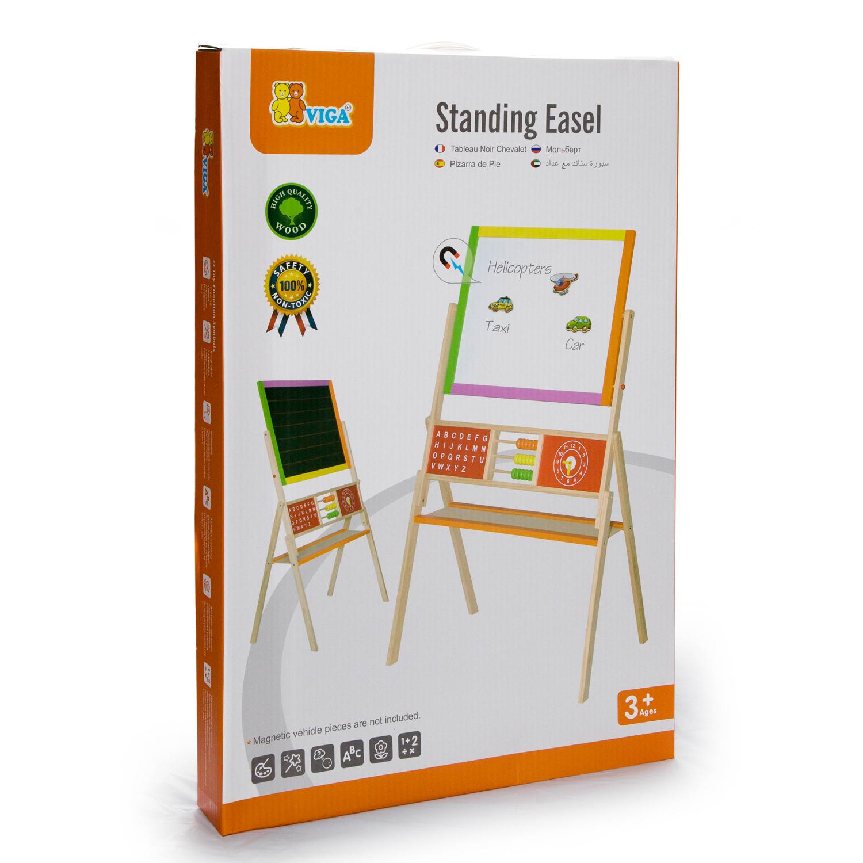 Дървена магнитна дъска с две лица - образователни играчки от Viga toys(3)-bellamie