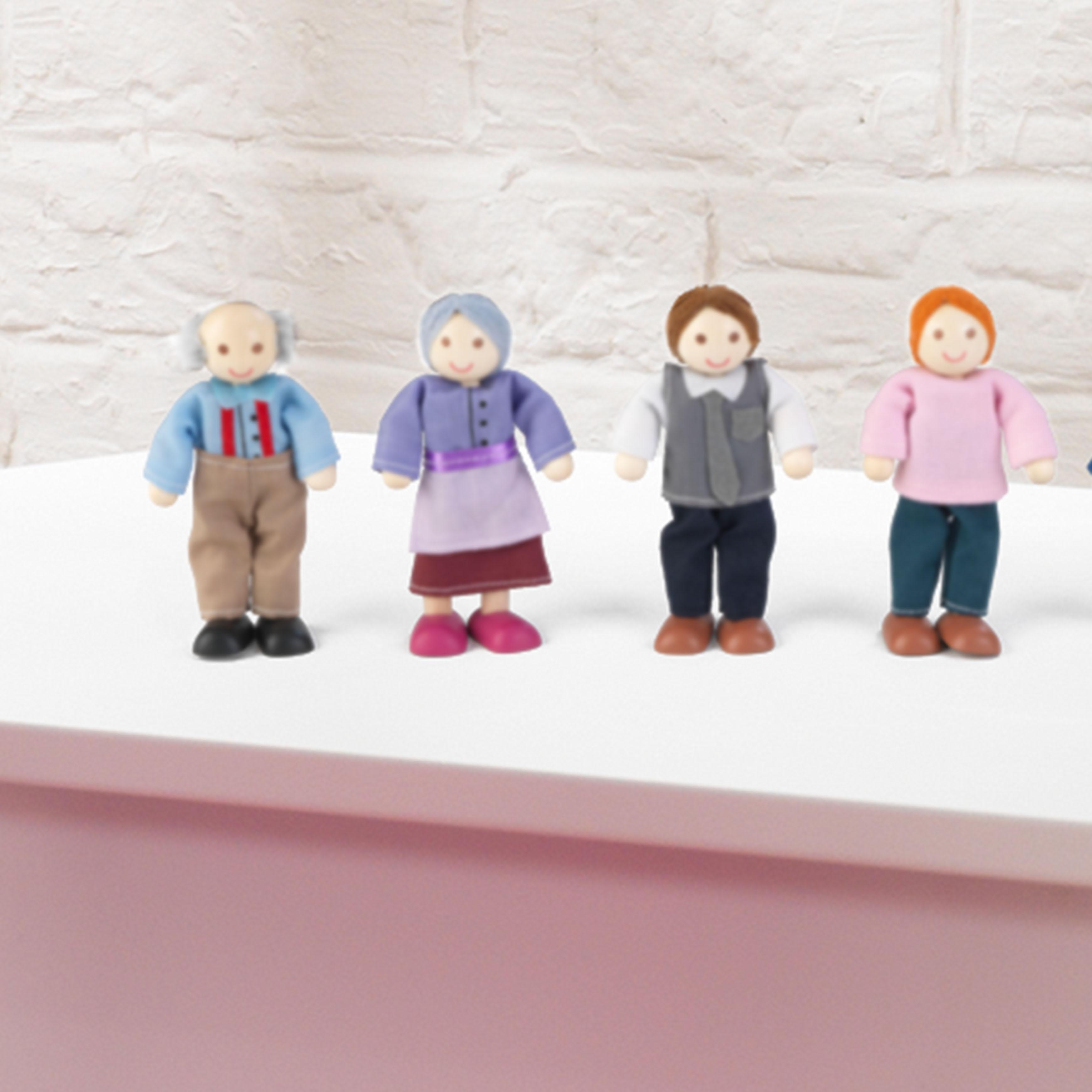 Семейство кукли за игра - дървена играчка за къща за кукли от Kidkraft-bellamie