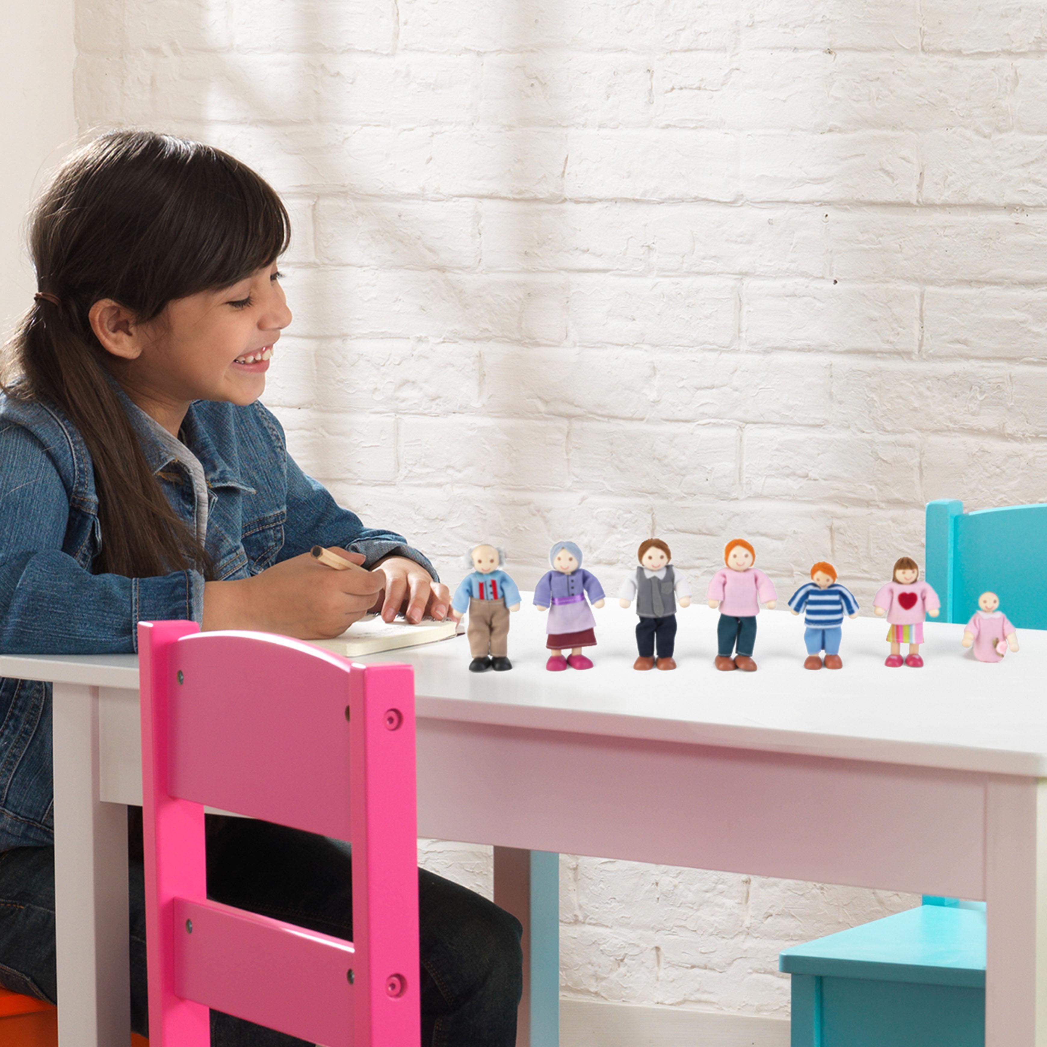 Семейство кукли за игра - дървена играчка за къща за кукли от Kidkraft(1)-bellamie