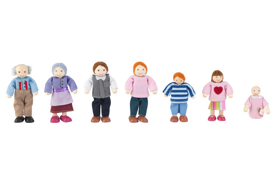 Семейство кукли за игра - дървена играчка за къща за кукли от Kidkraft(2)-bellamie