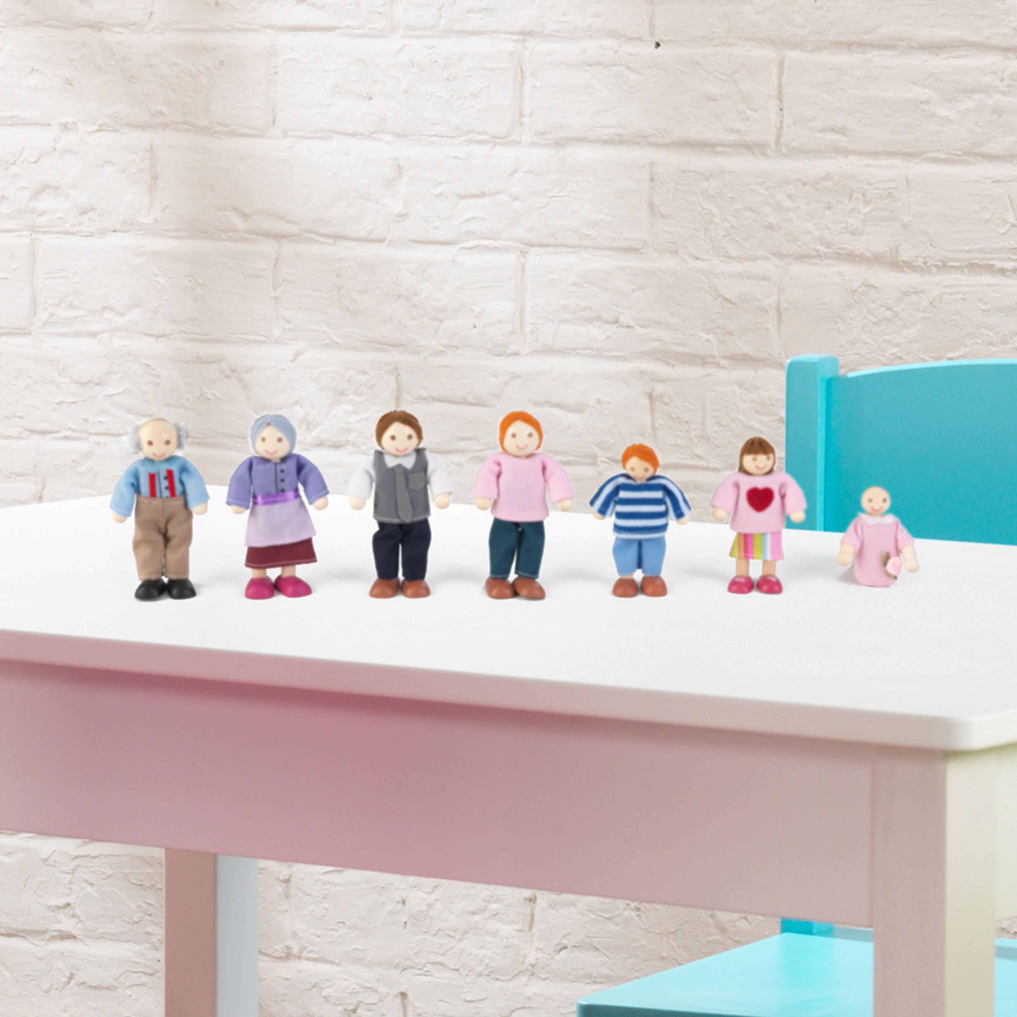 Семейство кукли за игра - дървена играчка за къща за кукли от Kidkraft(3)-bellamie