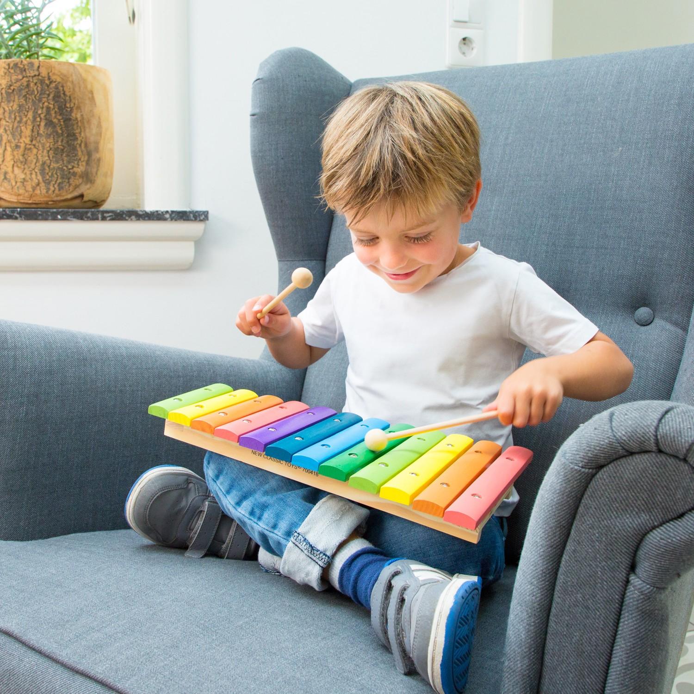 Детски музикални инструменти- дървен ксилофон от New classic toys(1)-bellamiestore