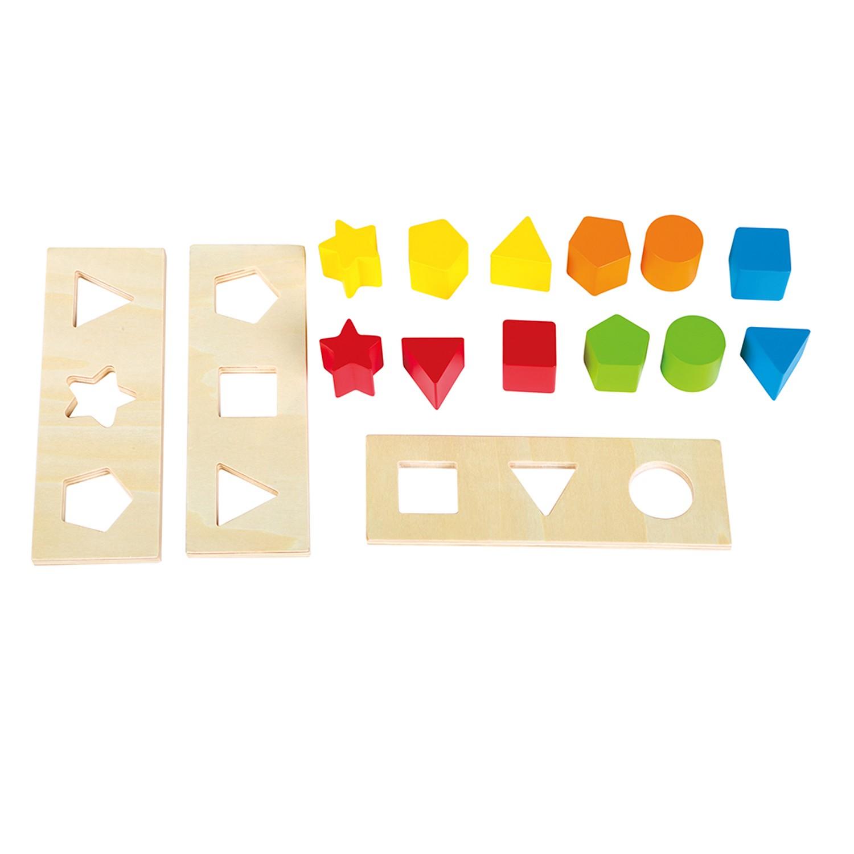 Дървена проходилка за бутане и сортиране от Lelin - Дървена играчка Уолкър - Bellamie