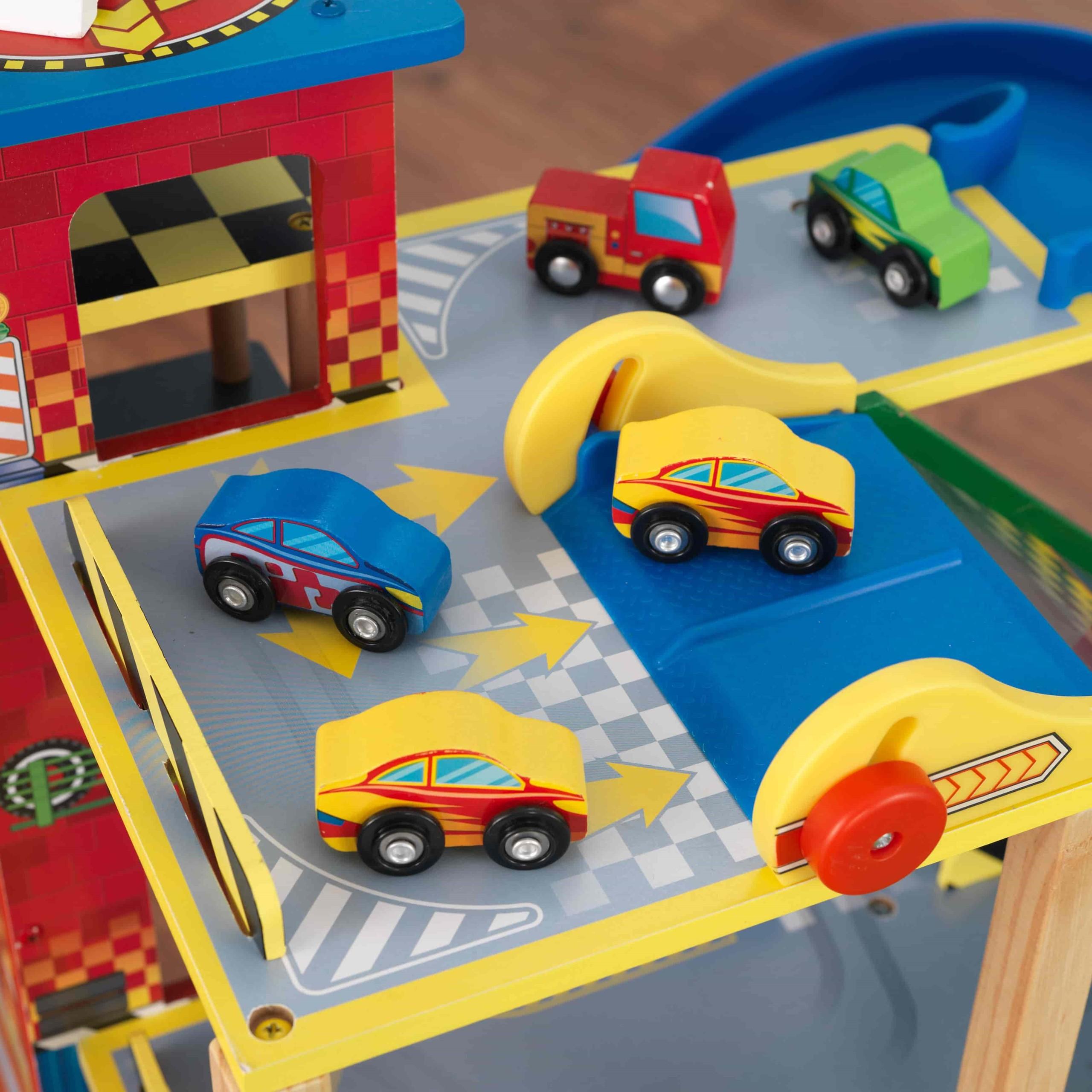 Детски дървен паркинг и голяма състезателна писта от KidKraft - детски играчки за момчета(8)-bellamiestore