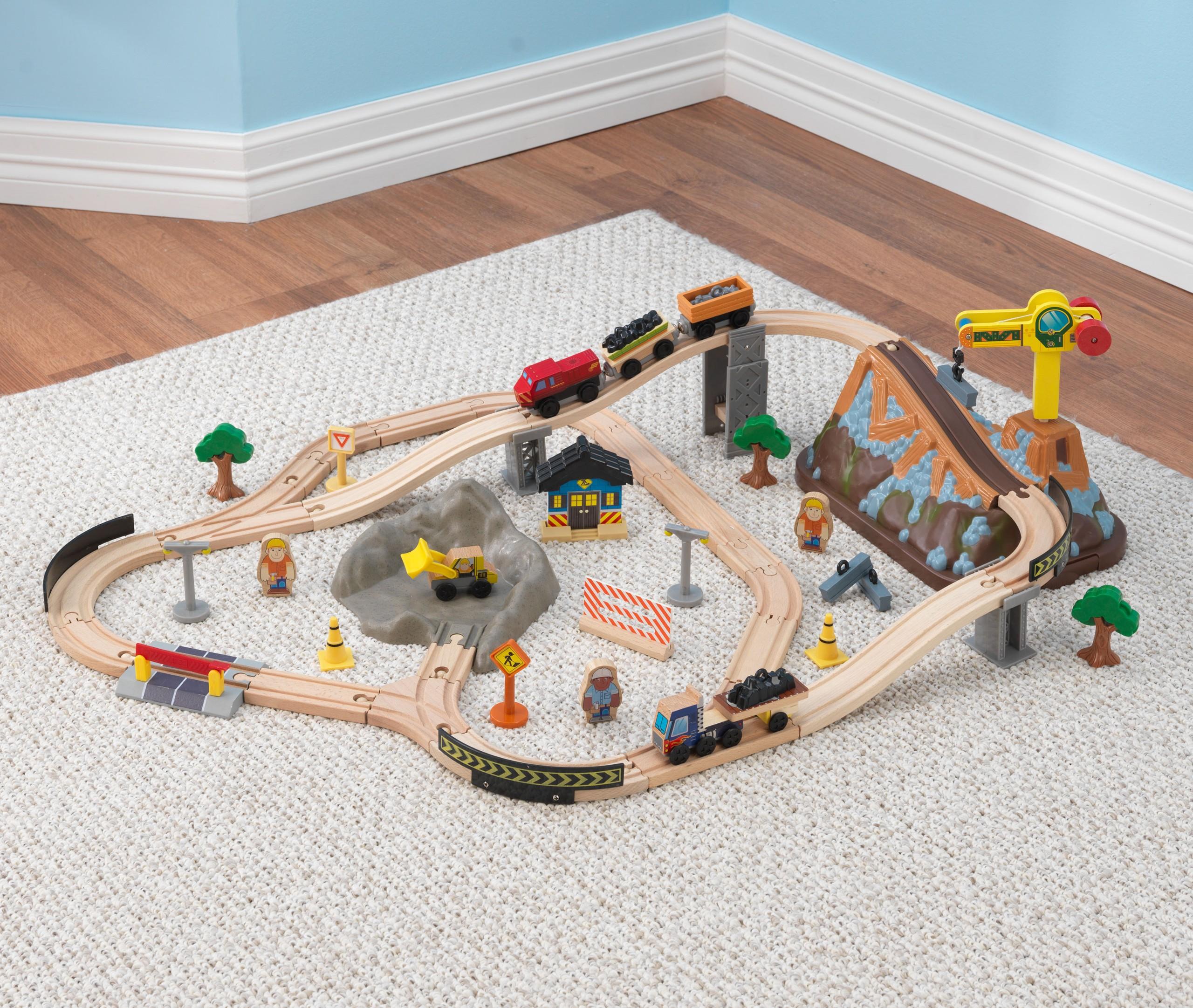 Детски дървен влак- Да копаем в мината от KidKraft-детски играчки за момчета-bellamie