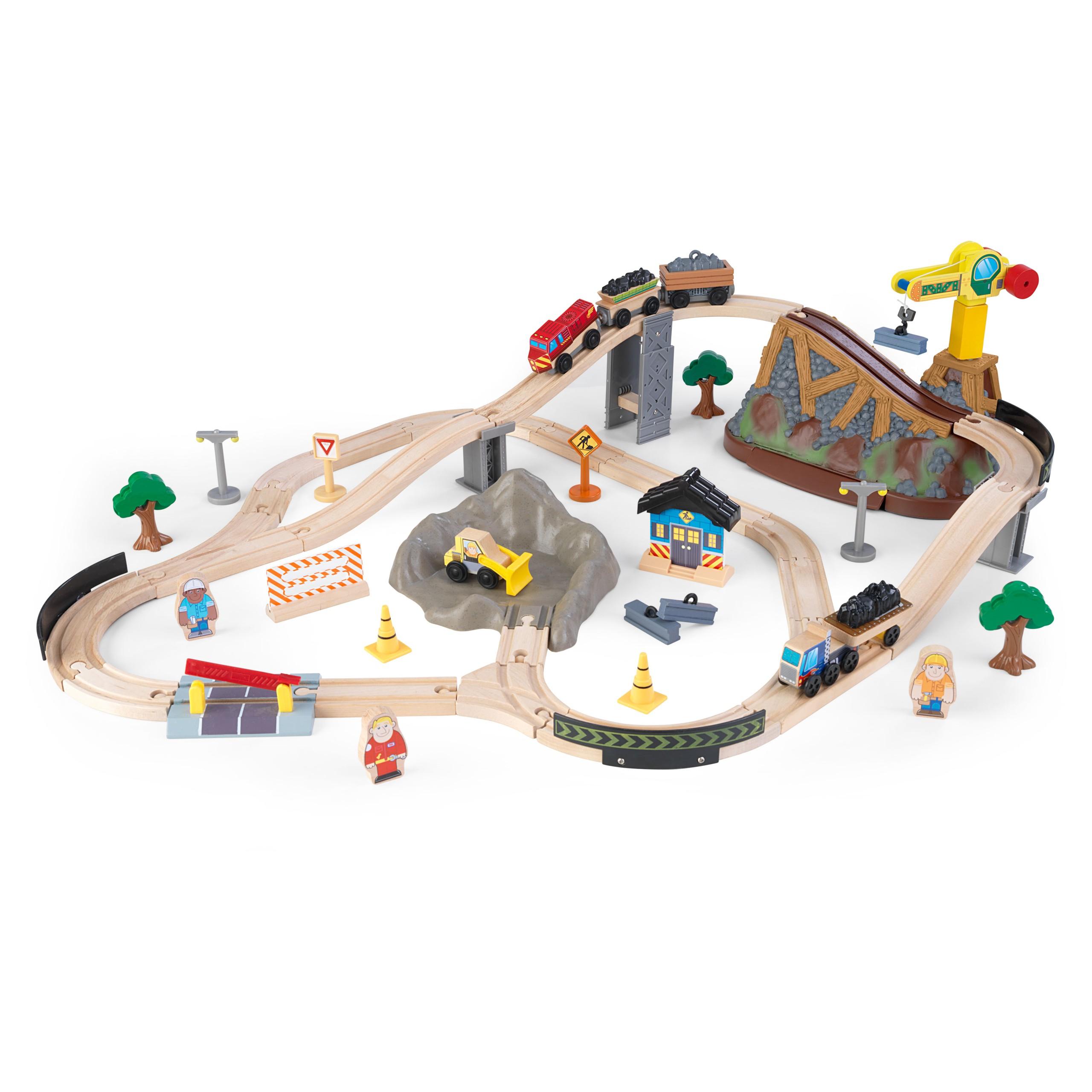 Детски дървен влак- Да копаем в мината от KidKraft-детски играчки за момчета(1)-bellamie
