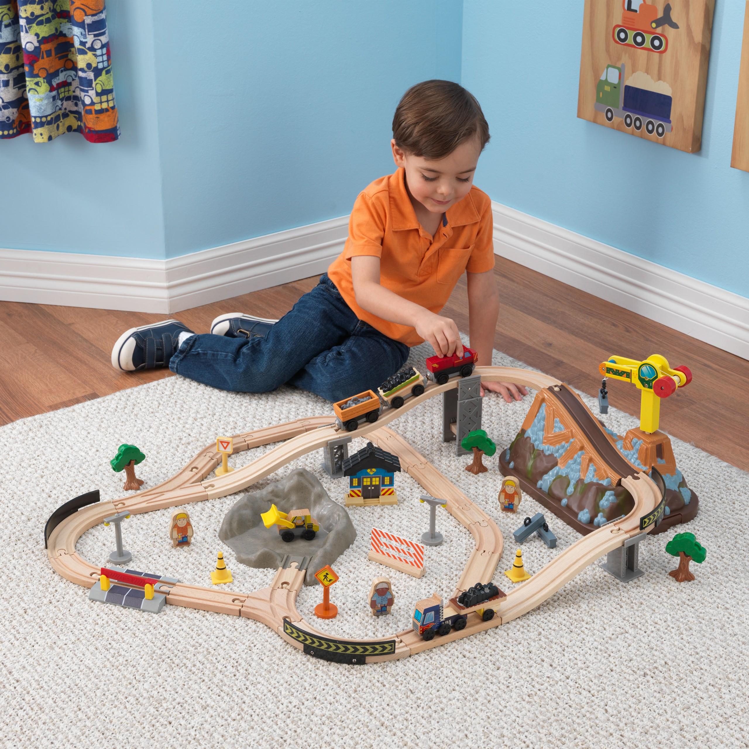 Детски дървен влак- Да копаем в мината от KidKraft-детски играчки за момчета(3)-bellamie