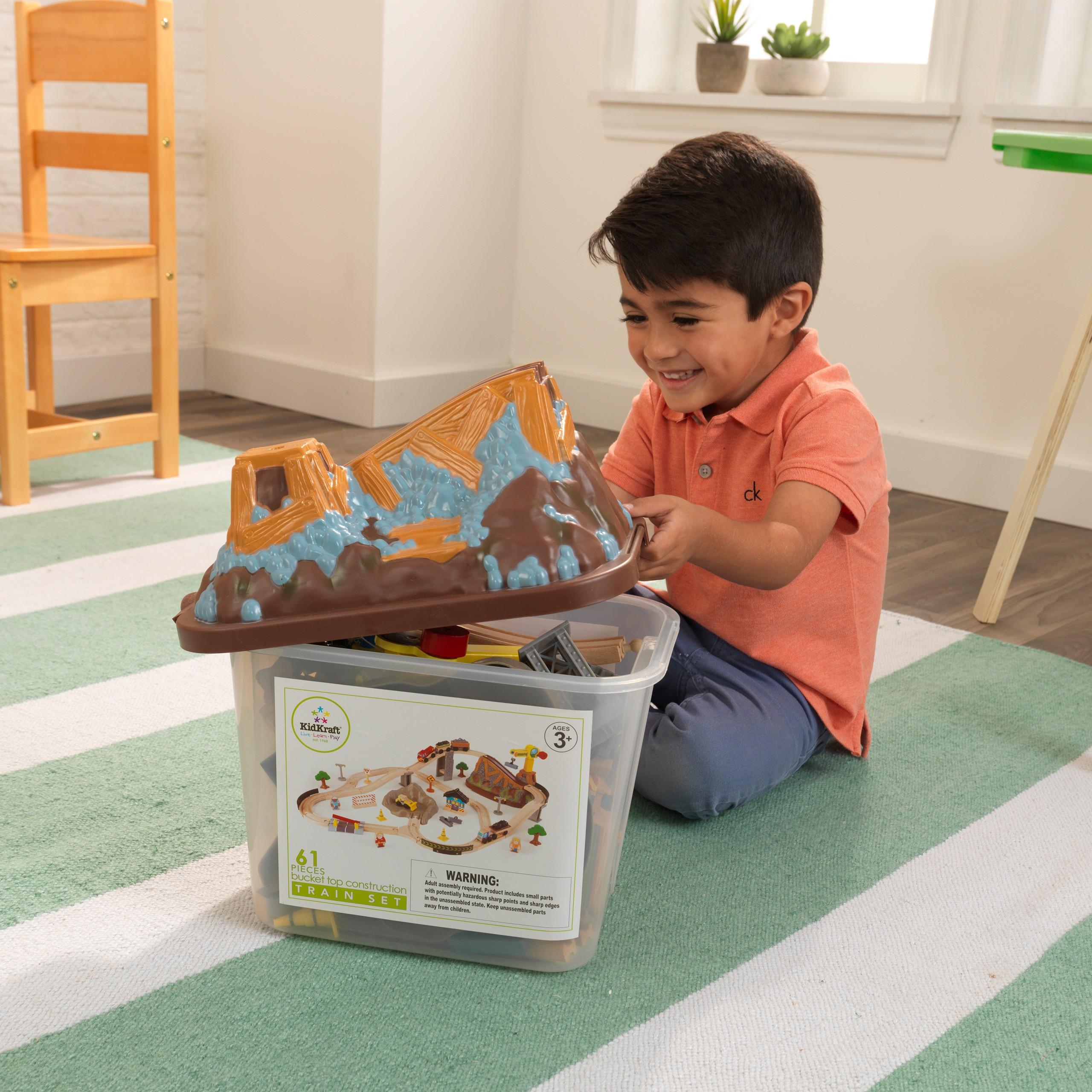 Детски дървен влак- Да копаем в мината от KidKraft-детски играчки за момчета(4)-bellamie