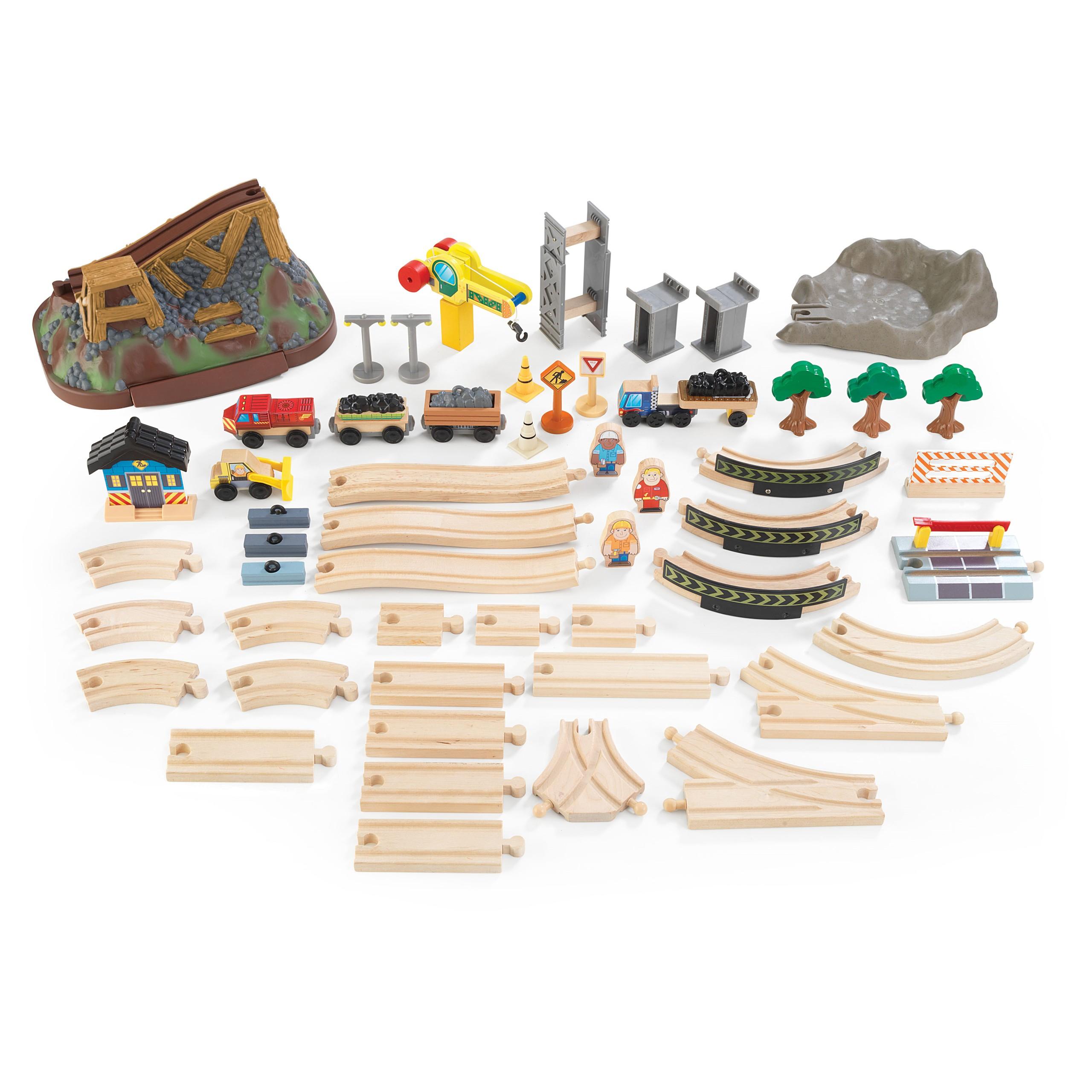 Детски дървен влак- Да копаем в мината от KidKraft-детски играчки за момчета(5)-bellamie