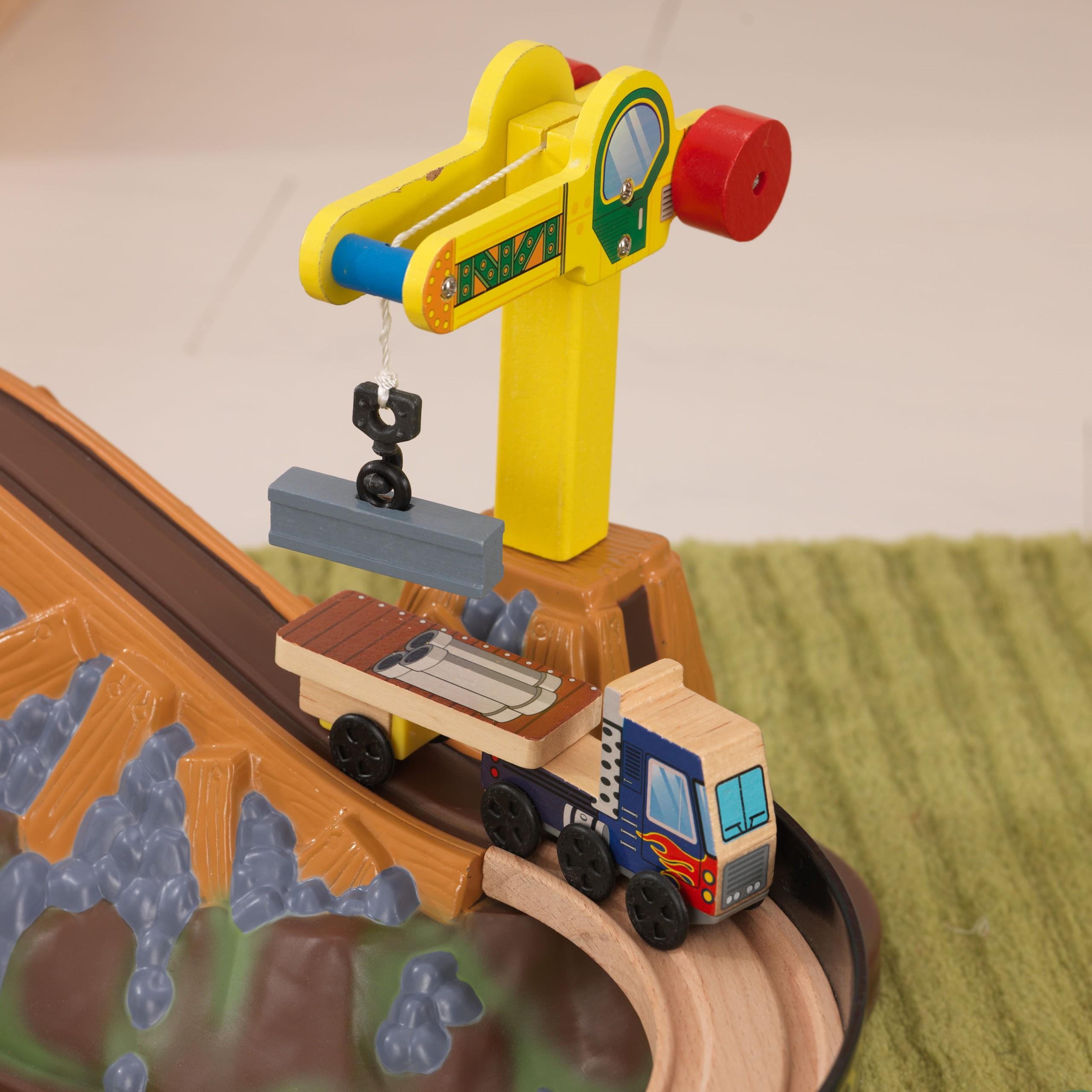 Детски дървен влак- Да копаем в мината от KidKraft-детски играчки за момчета(6)-bellamie